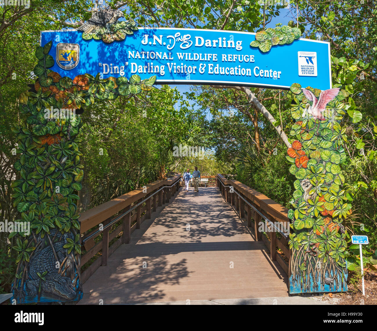 Florida, Sanibel Island, J.N. 'Ding' Darling National Wildlife Refuge, Visitor & Education Center - Stock Image