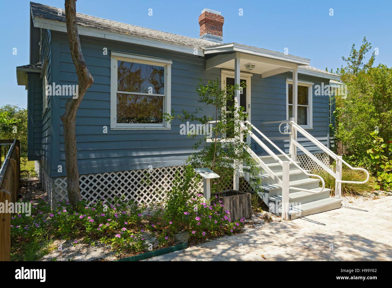 Florida, Sanibel Island, Sanibel Historical Museum & Village, 1925 Morning Glories Cottage a  Sears & Roebuck - Stock Image