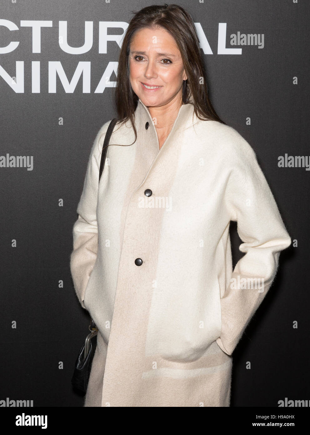 New York City, USA - November 17, 2016: Director Julie Taymor attends the 'Nocturnal Animals' New York premiere - Stock Image