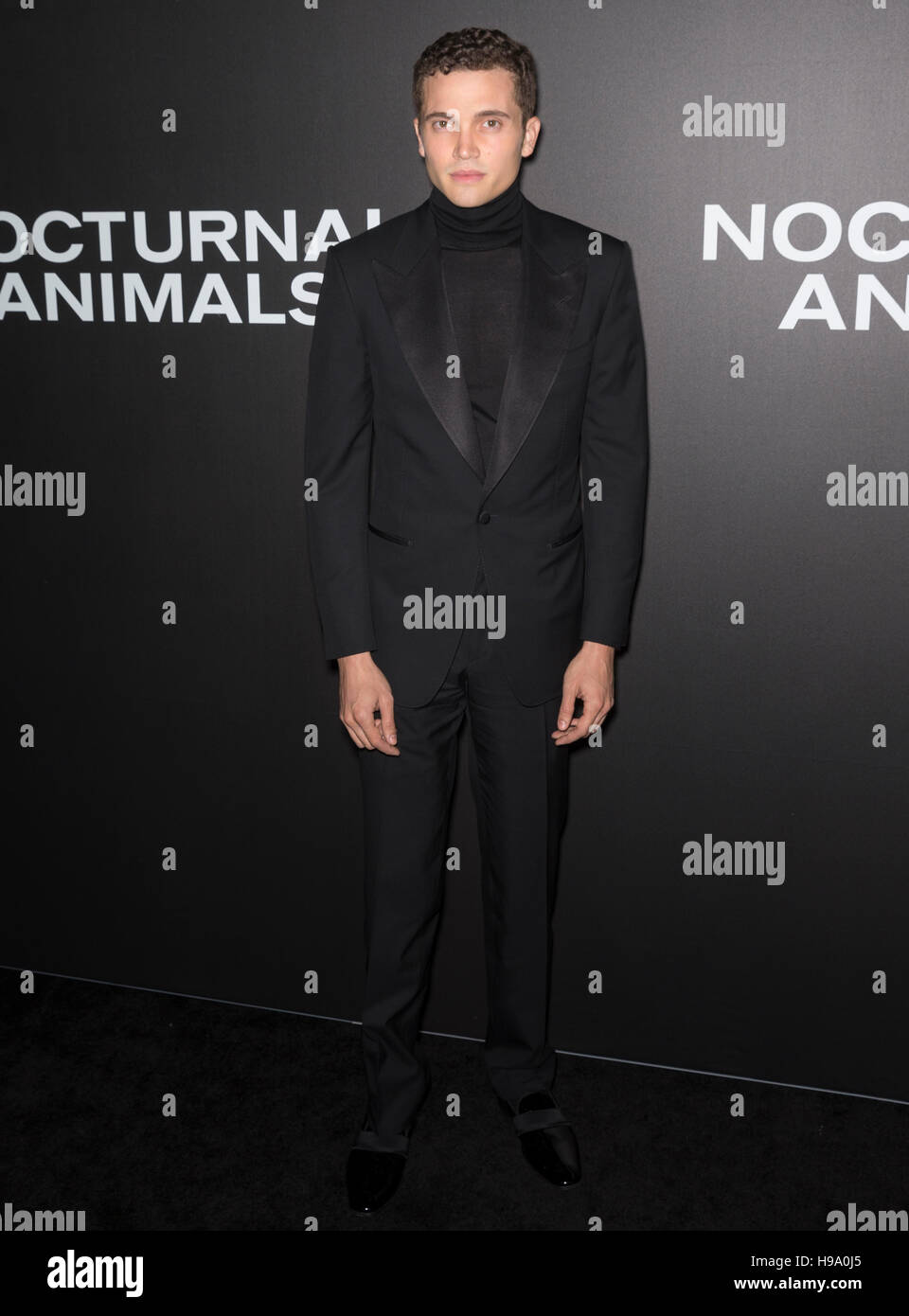 New York City, USA - November 17, 2016: Actor Karl Glusman attends the 'Nocturnal Animals' New York premiere - Stock Image
