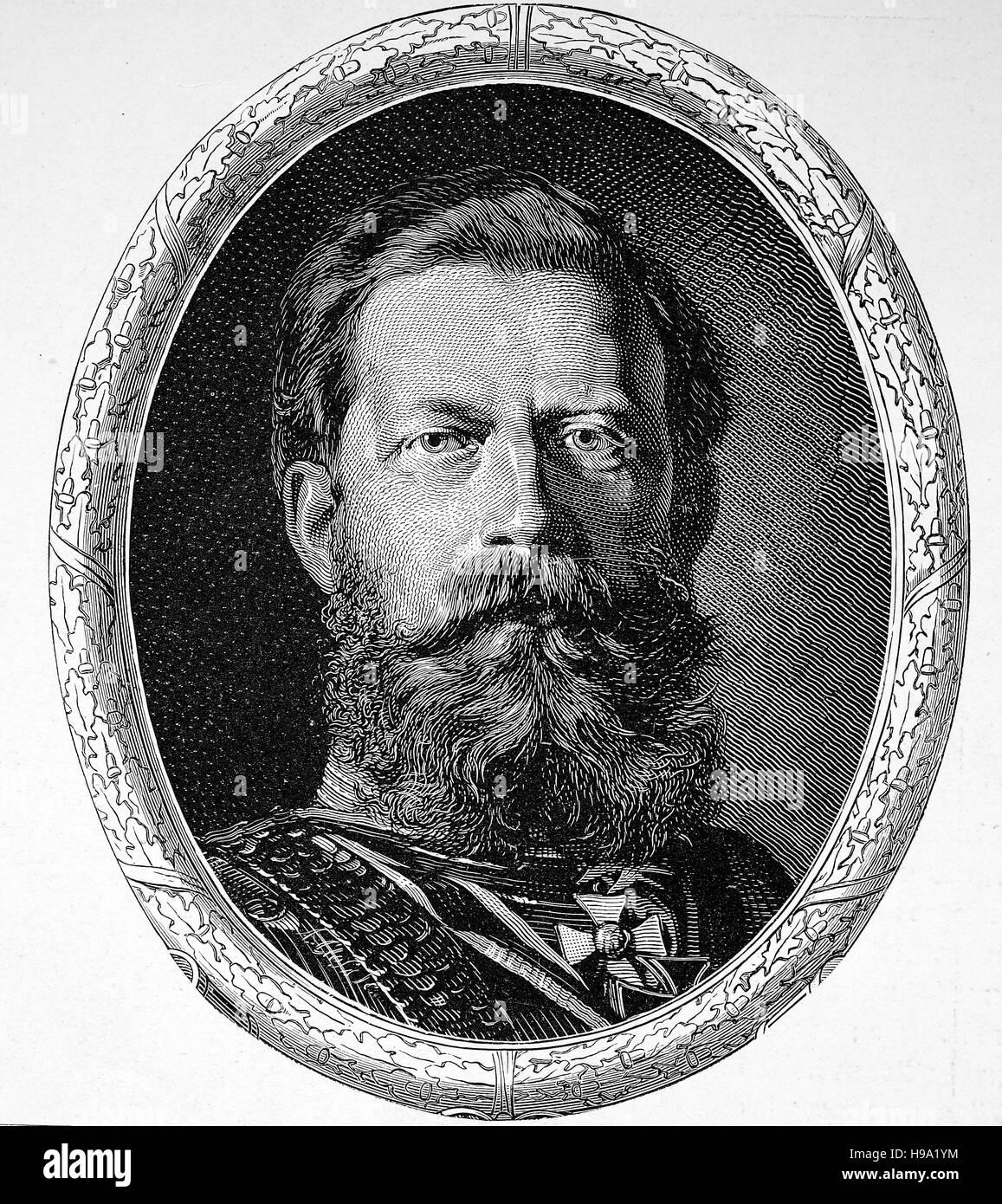 Wilhelm Friedrich Ludwig von Preussen in Berlin, Hohenzollern, historical illustration - Stock Image