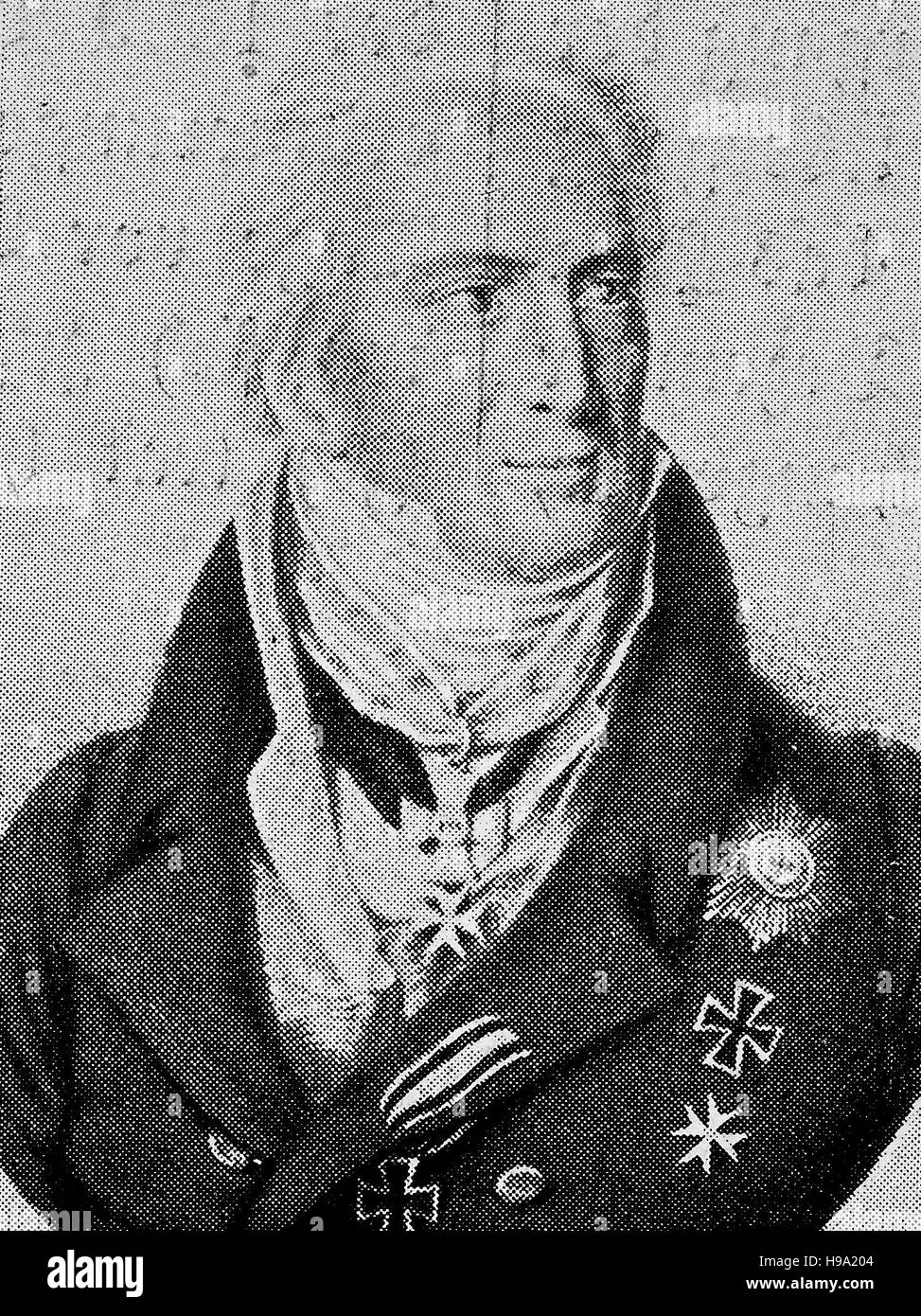 Karl August Fuerst von Hardenberg, 31 May 1750 - 26 November 1822, was a Prussian statesman and Prime Minister of - Stock Image