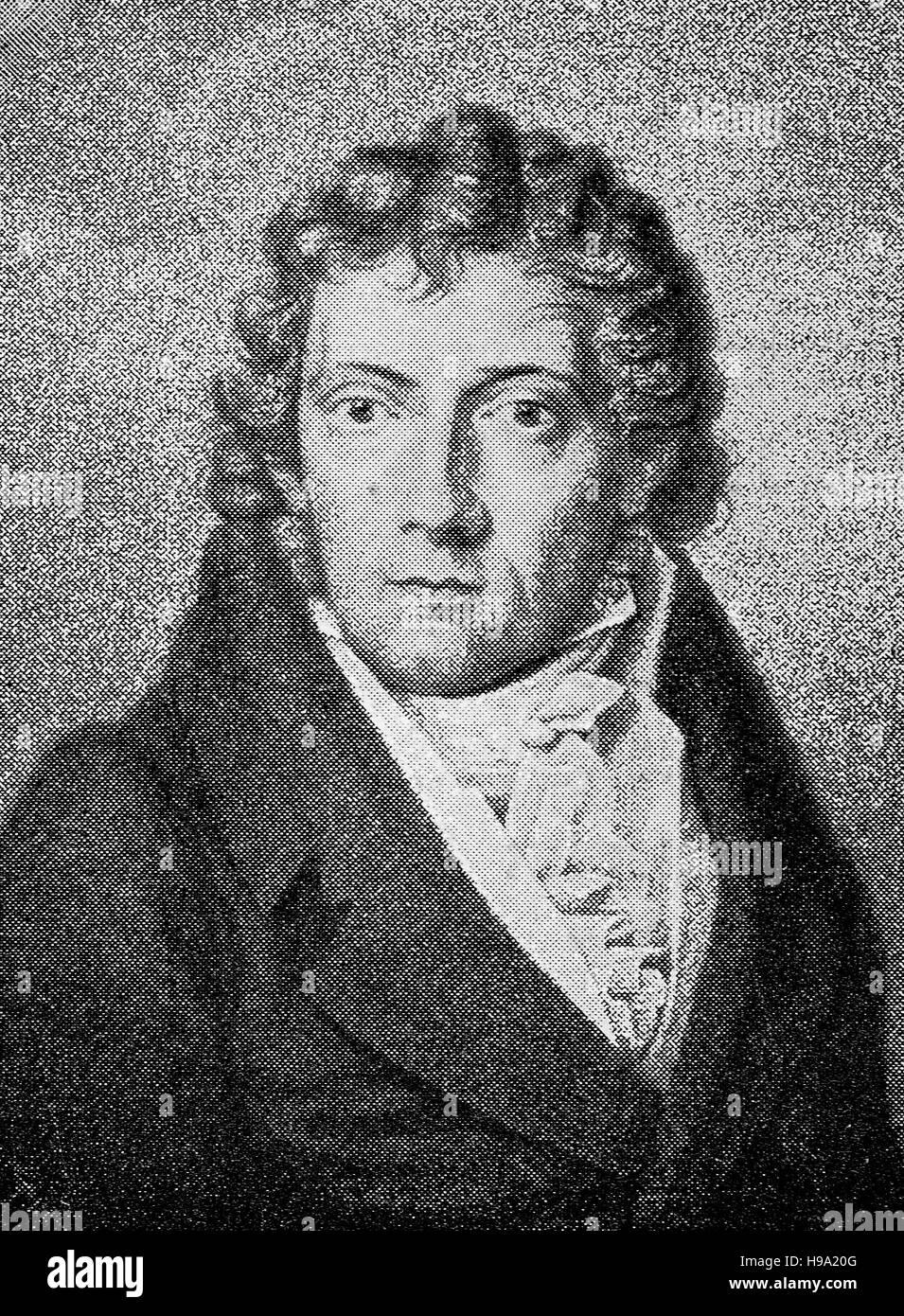 Friedrich Daniel Ernst Schleiermacher, November 21, 1768 - February 12, 1834 was a German theologian, philosopher, - Stock Image