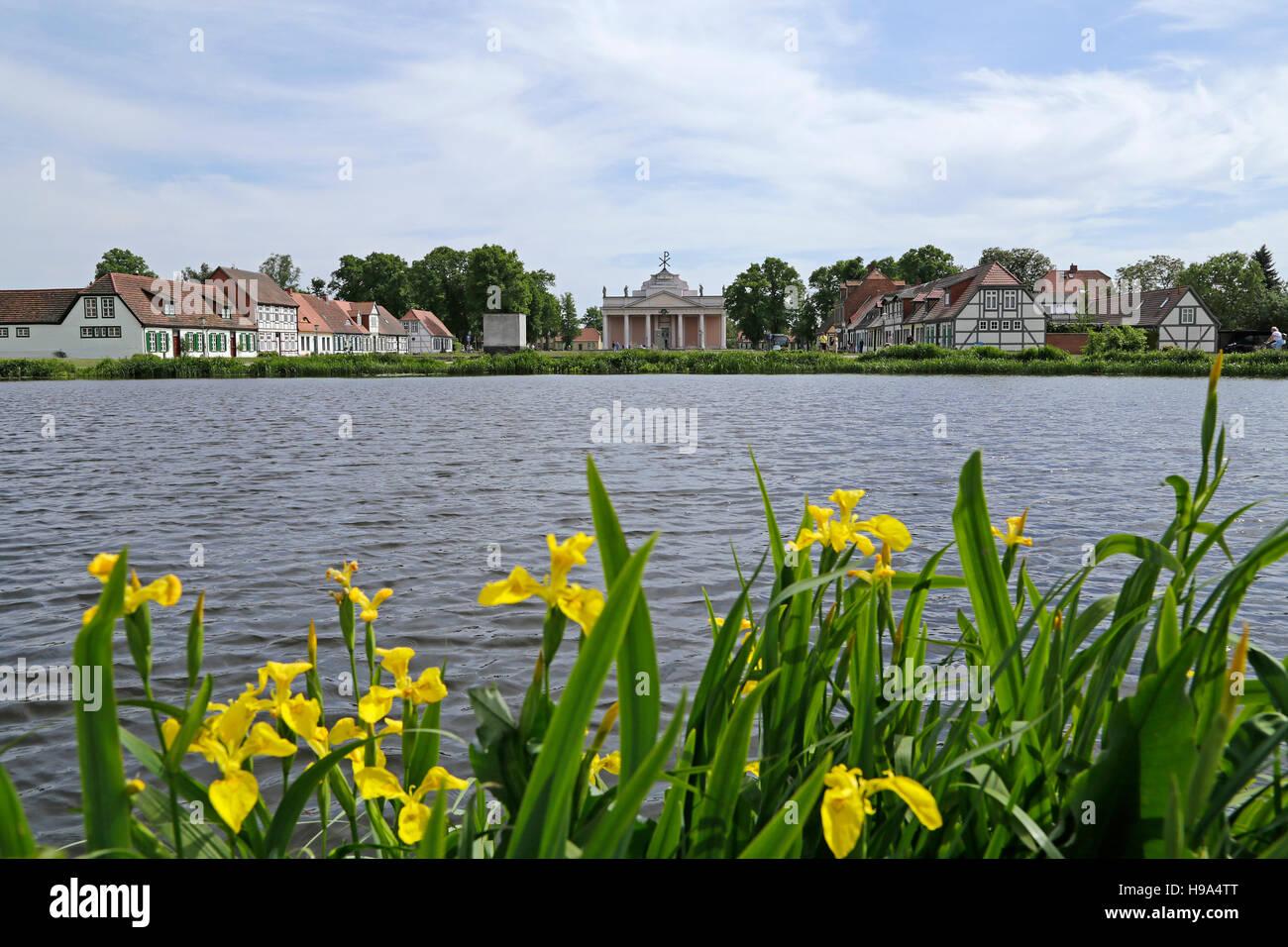 Am Bassin, Ludwigslust, Mecklenburg-West Pomerania, Germany - Stock Image