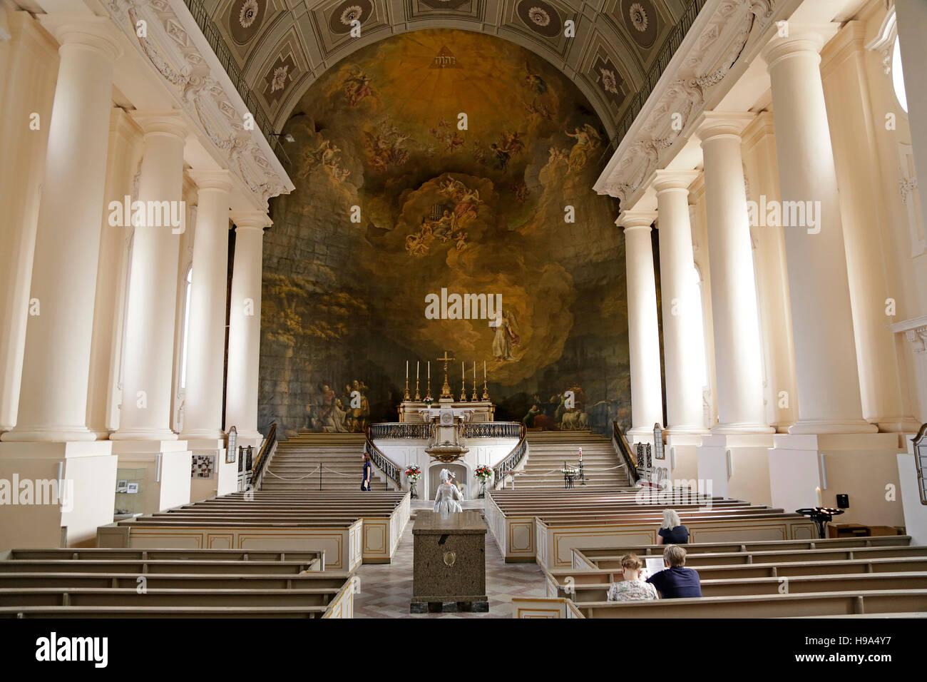 parish church, Ludwigslust, Mecklenburg-West Pomerania, Germany - Stock Image
