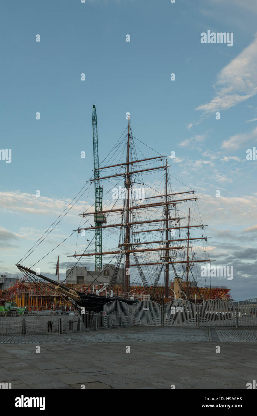 V&A Design Museum under construction beside the RRS Discovery at Discovery Point,Dundee Waterfront,Dundee,Scotland,UK, - Stock Image