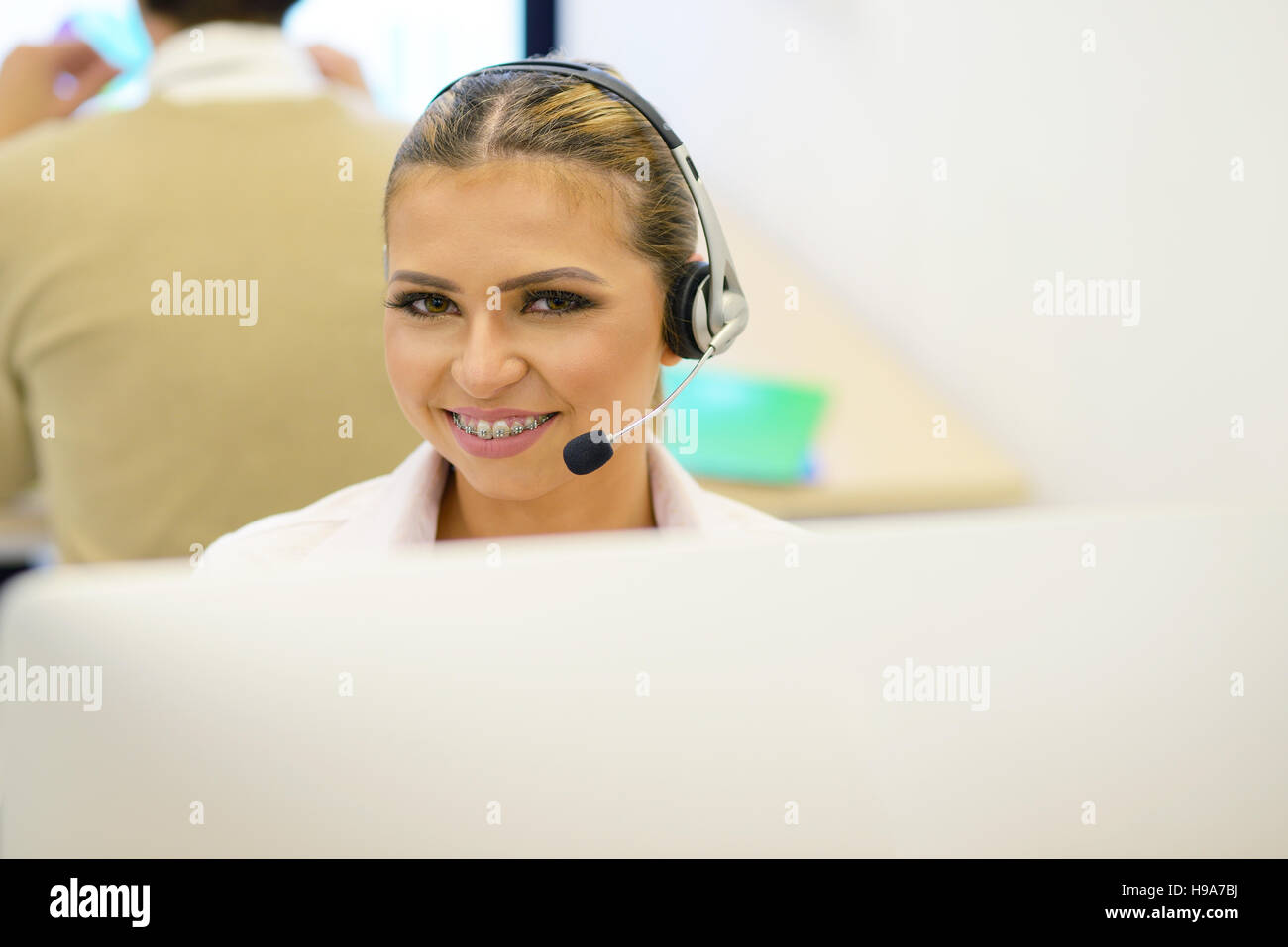 Woman With Braces Stock Photos & Woman With Braces Stock Images - Alamy
