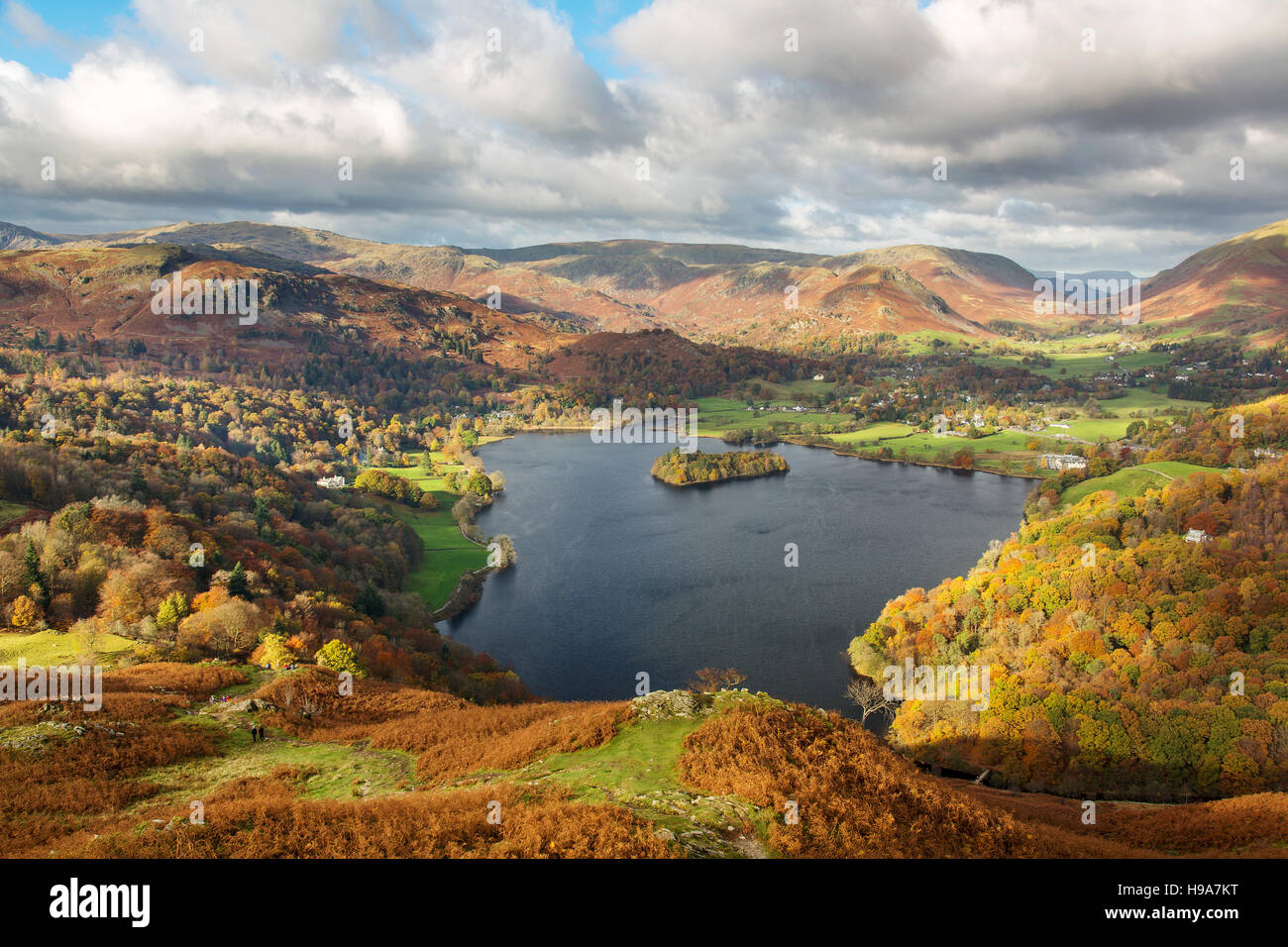 Grasmere Lake District Cumbria - Stock Image