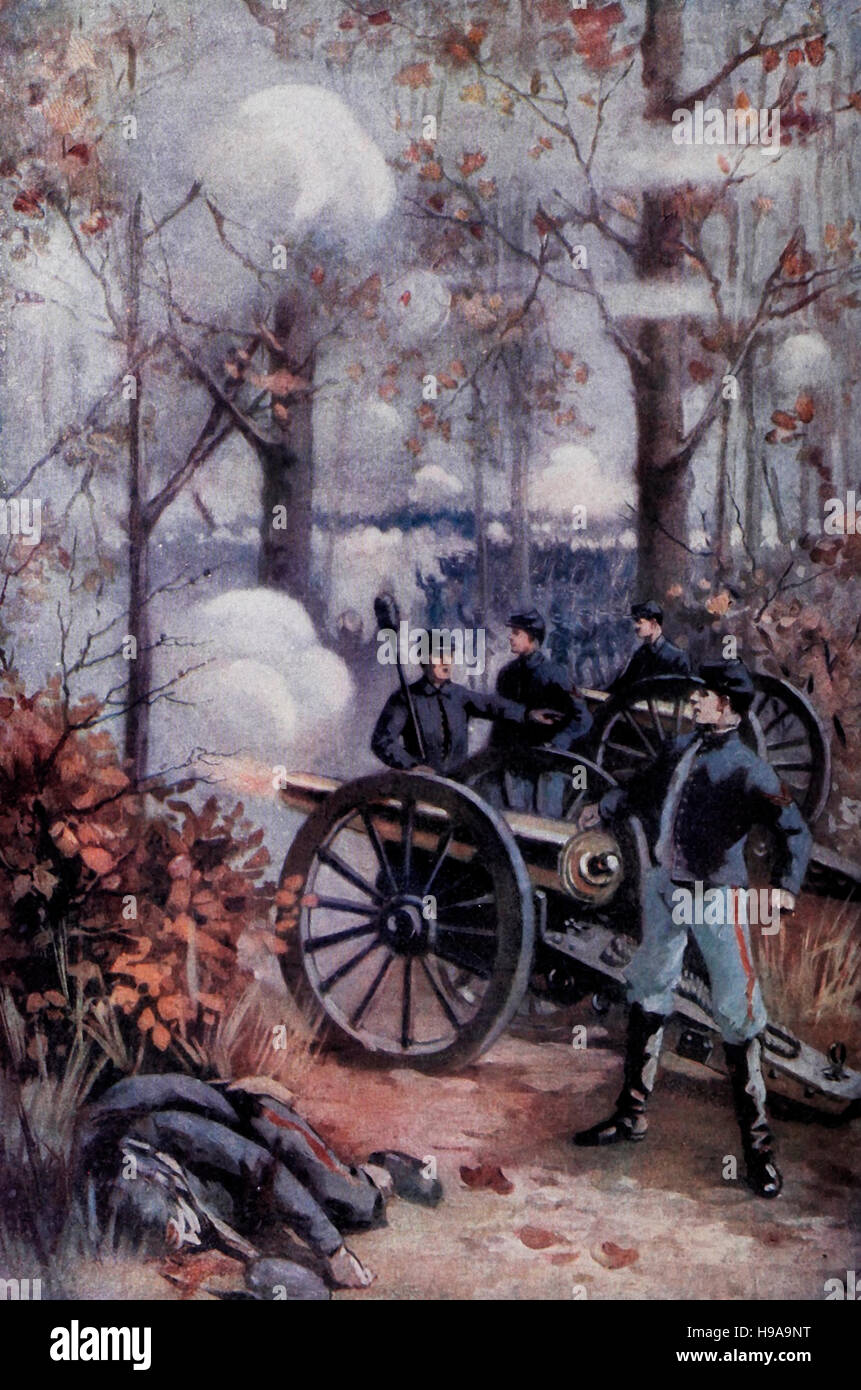 The Battle of Shiloh during the USA Civil War - Stock Image