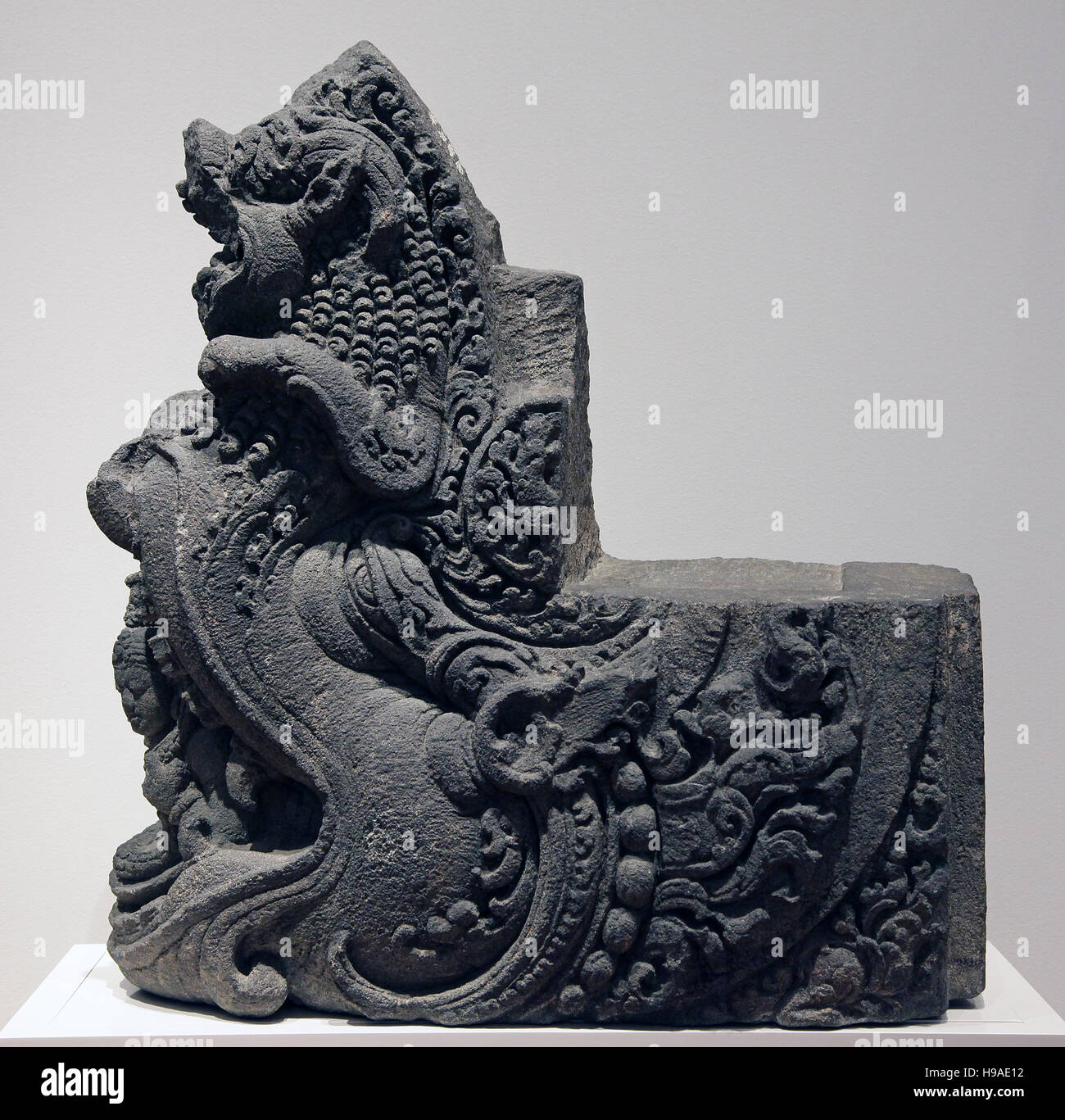 Mythical beast Makara Indonesia 9th century central Java - Stock Image