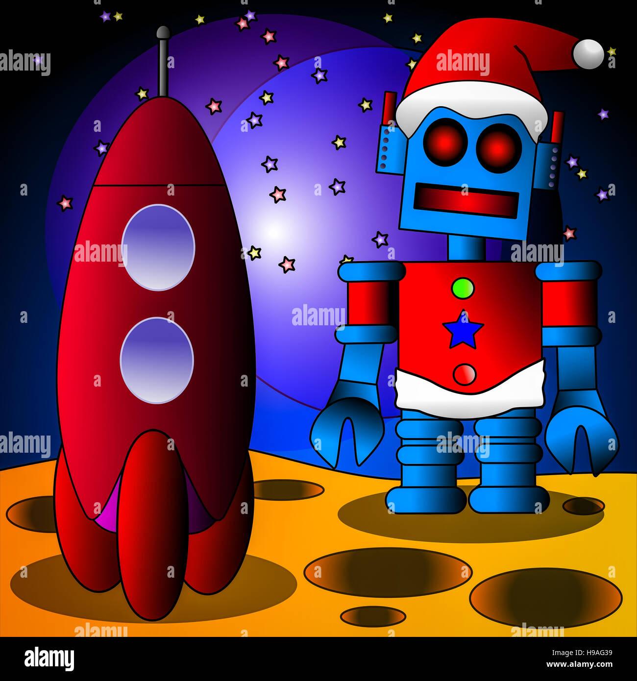 Santa Bot - Stock Image