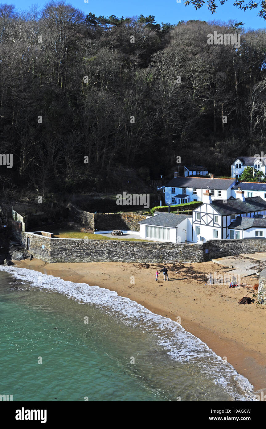 Readymoney cove at Fowey in Cornwall, England, UK. - Stock Image