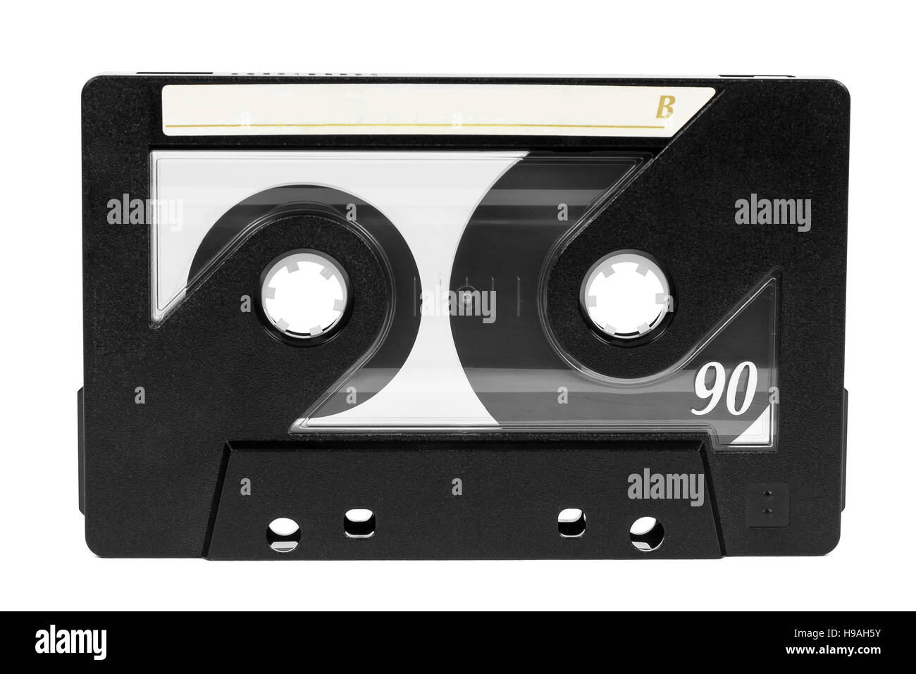 Vintage audio tape isolated on white background with clipping path - Stock Image