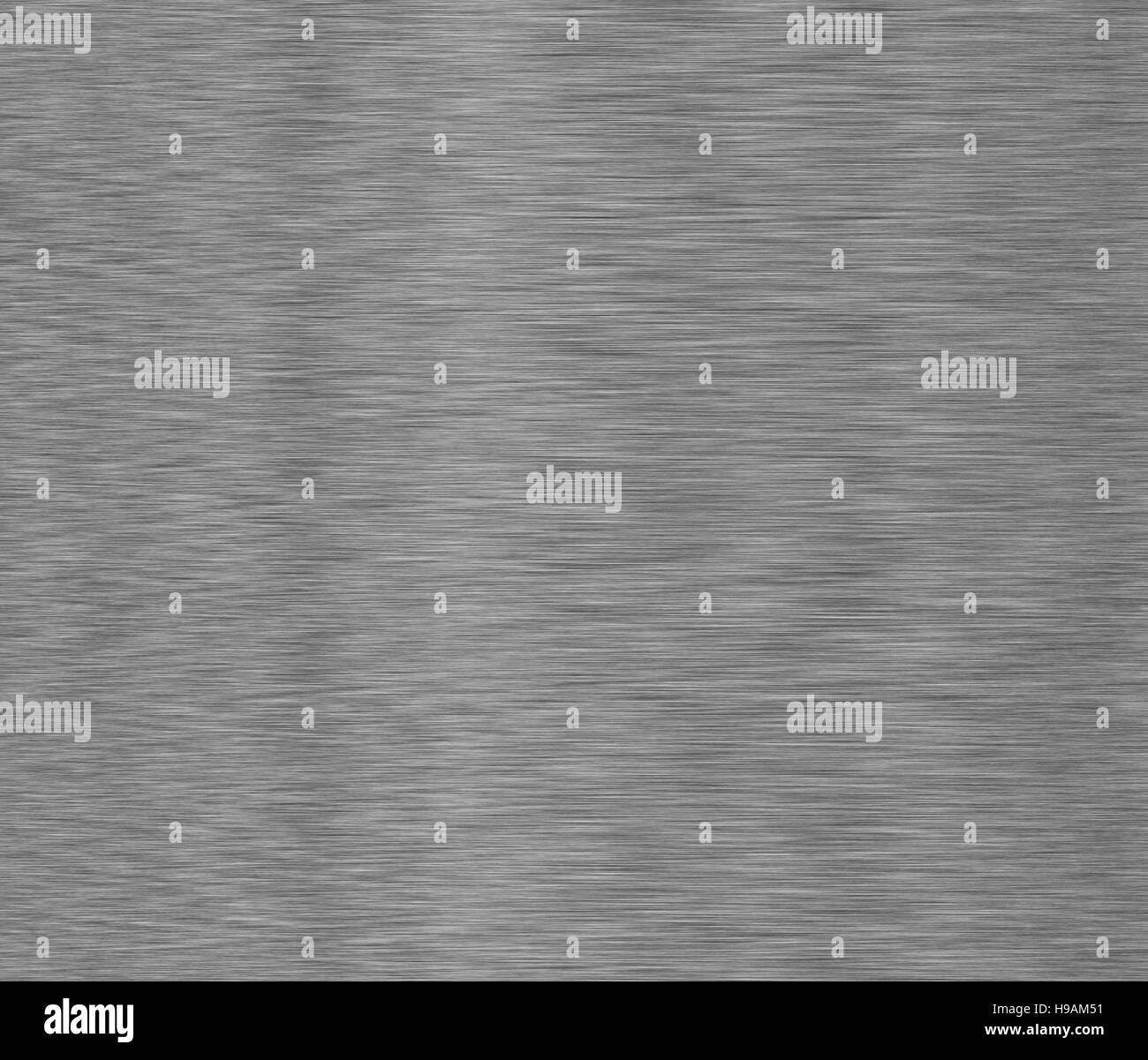Linear brushed metal texture. Stainless steel background with vignette - Stock Image