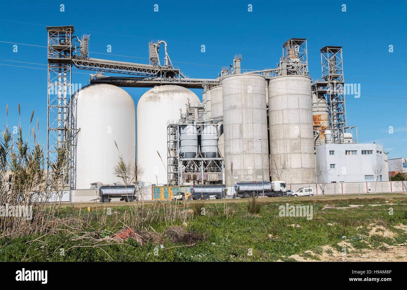 Factory, industrial buildings, environment Stock Photo