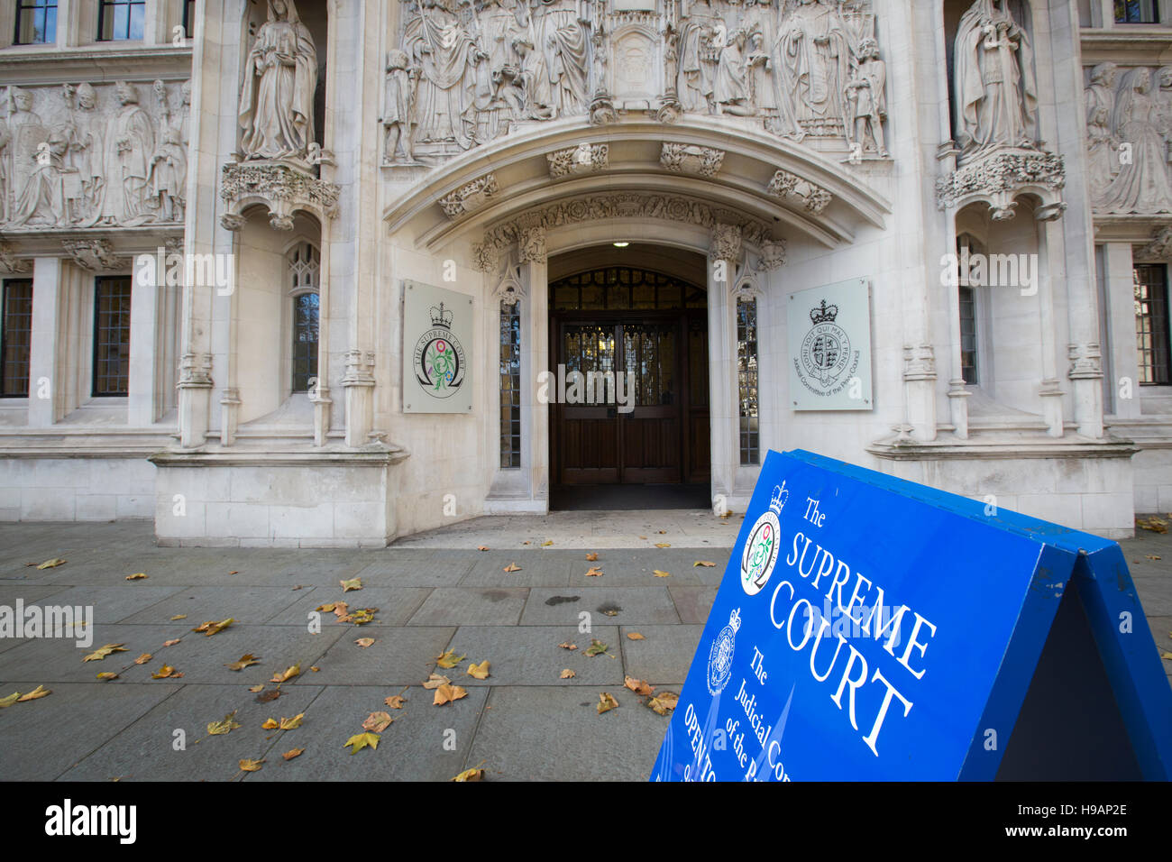The Supreme Court, where the UK Government's Brexit appeal is taking place against Anti-Brexit campaigners, - Stock Image