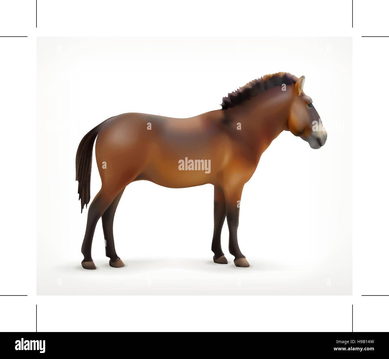 Horse, vector icon - Stock Image
