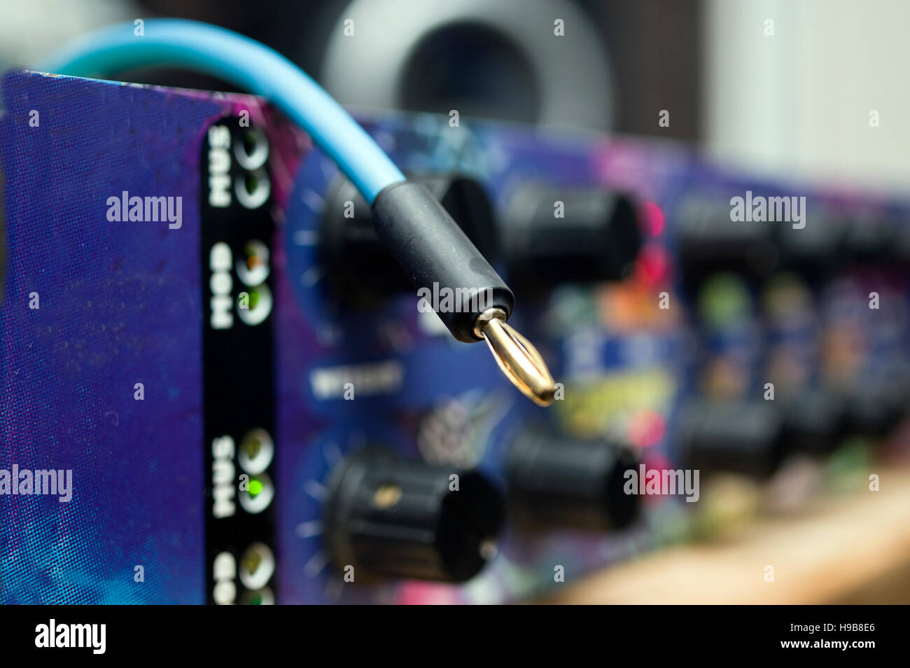 Audio Cable - Stock Image