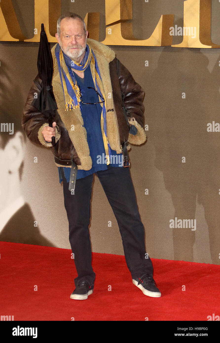 London, UK. 21st Nov, 2016. Terry Gilliam attending Allied UK Premiere, Odeon Leicester Square in London, UK Credit: - Stock Image
