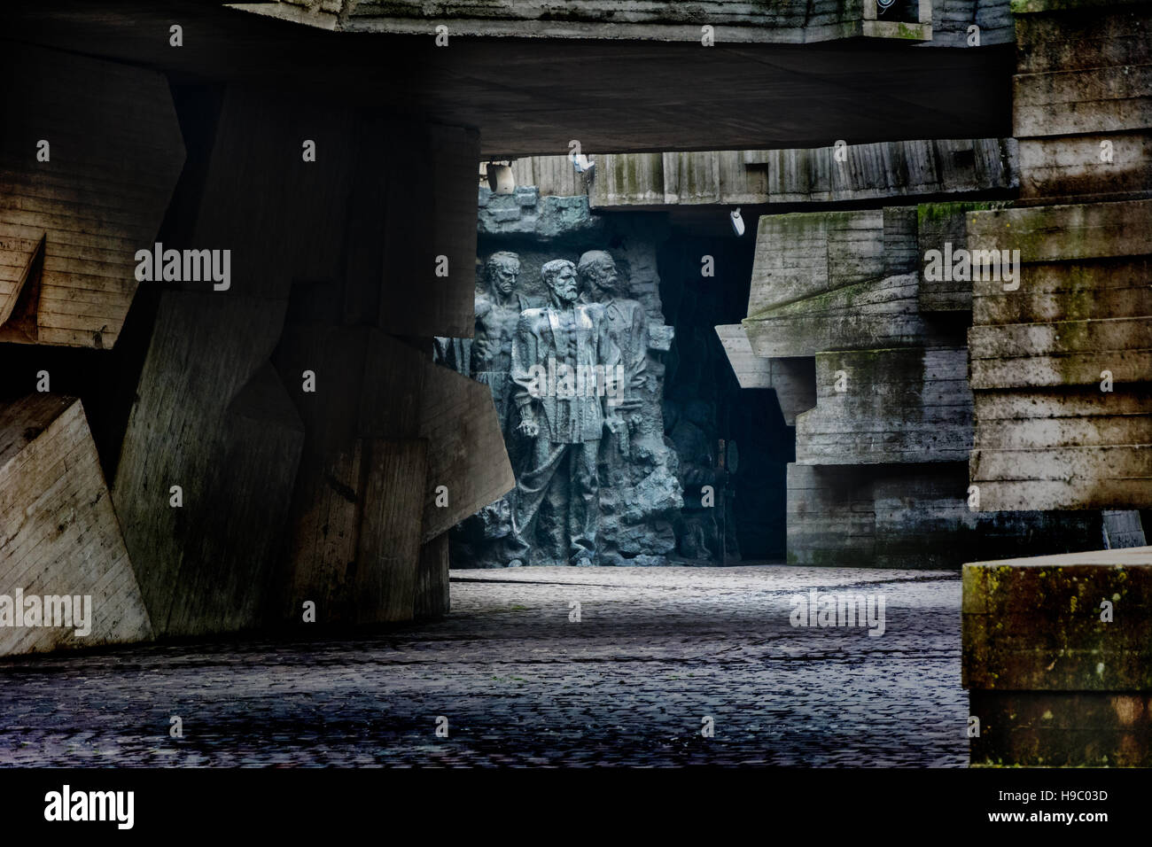 a fragment of the memorial dedicated to the heroism in World War II. Kiev, Ukraine. - Stock Image