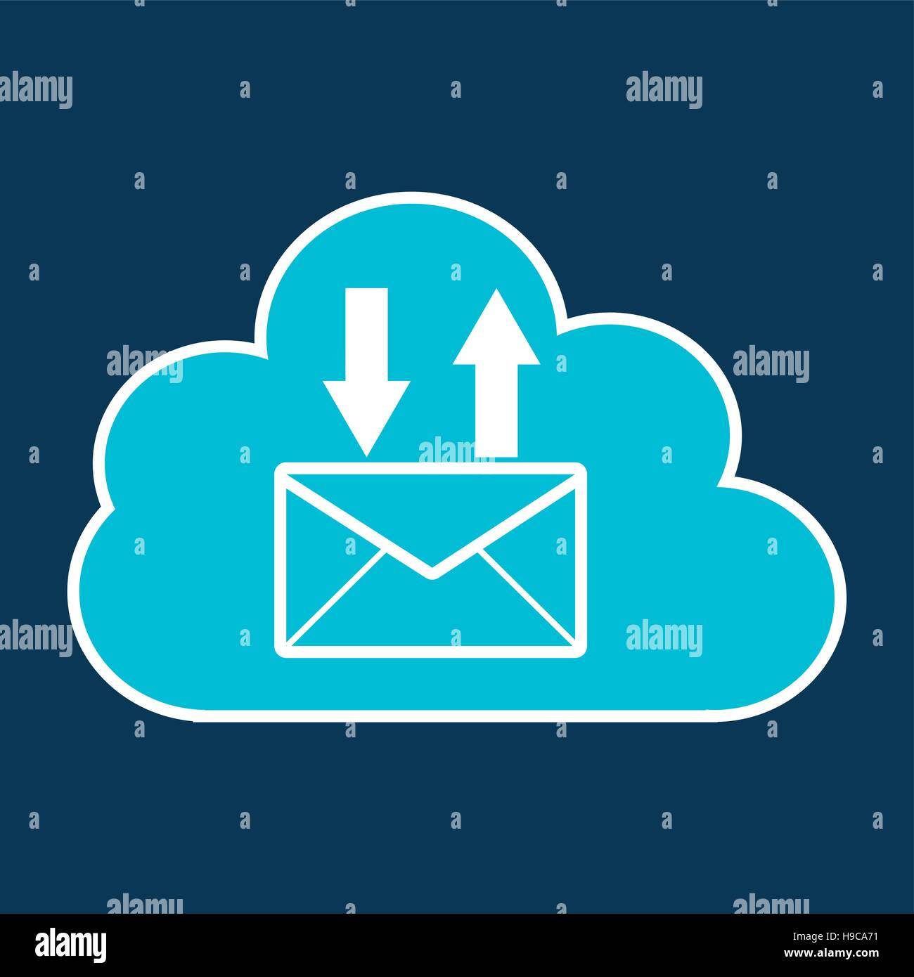 cloud technology web language email vector illustration eps 10 - Stock Image