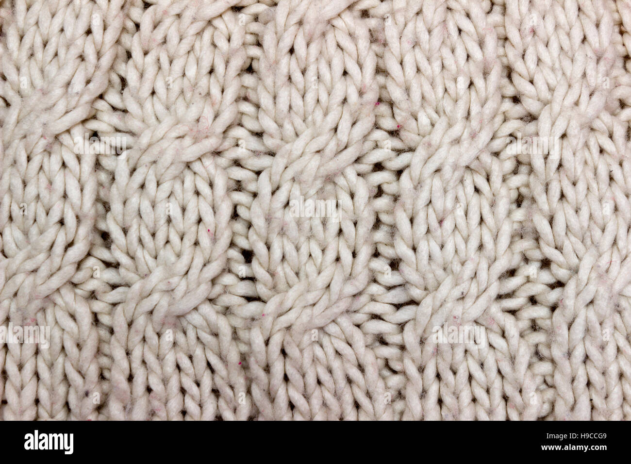 Knitted wool background - Stock Image