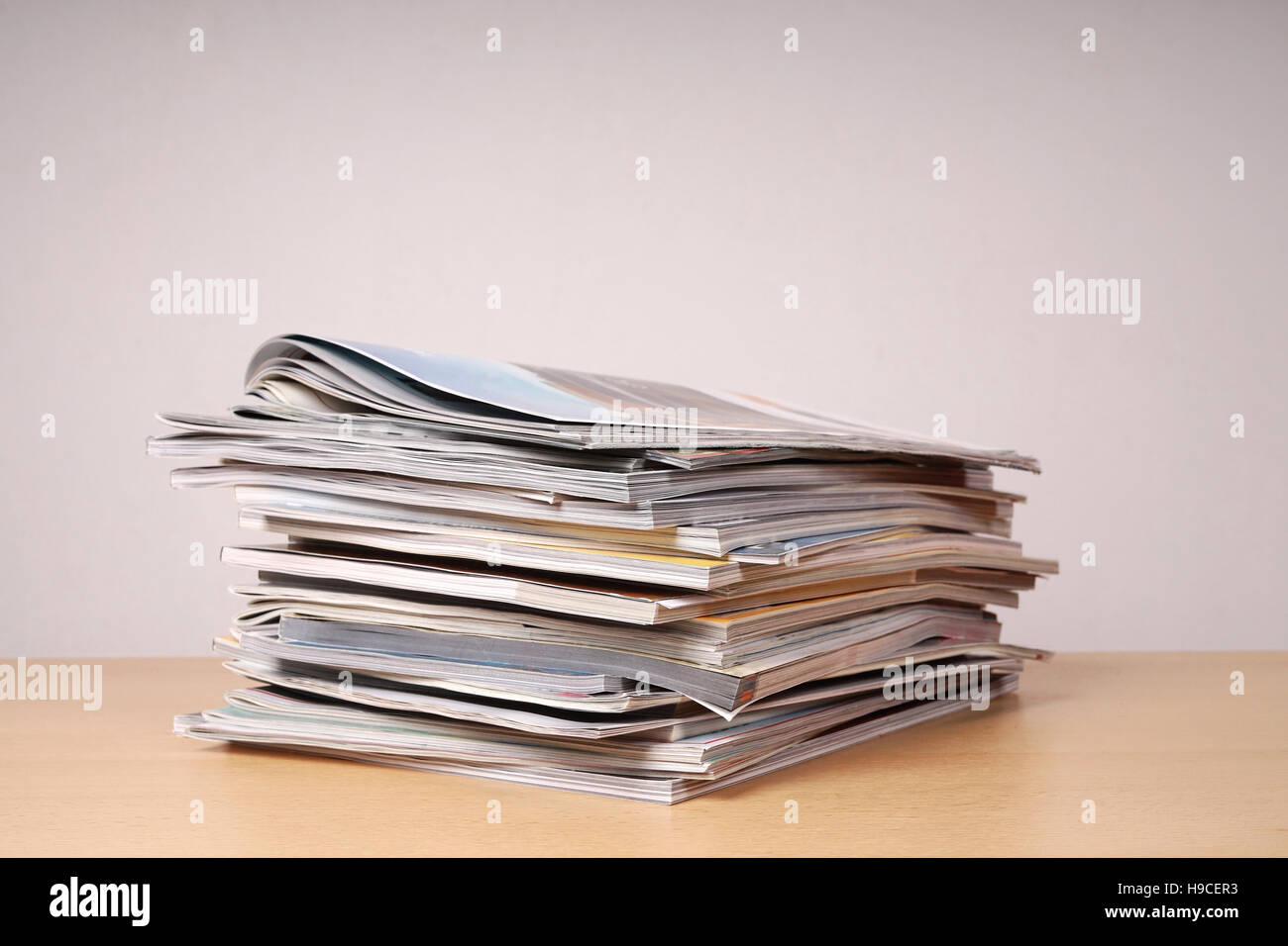 stack of magazins and catalogs - Stock Image