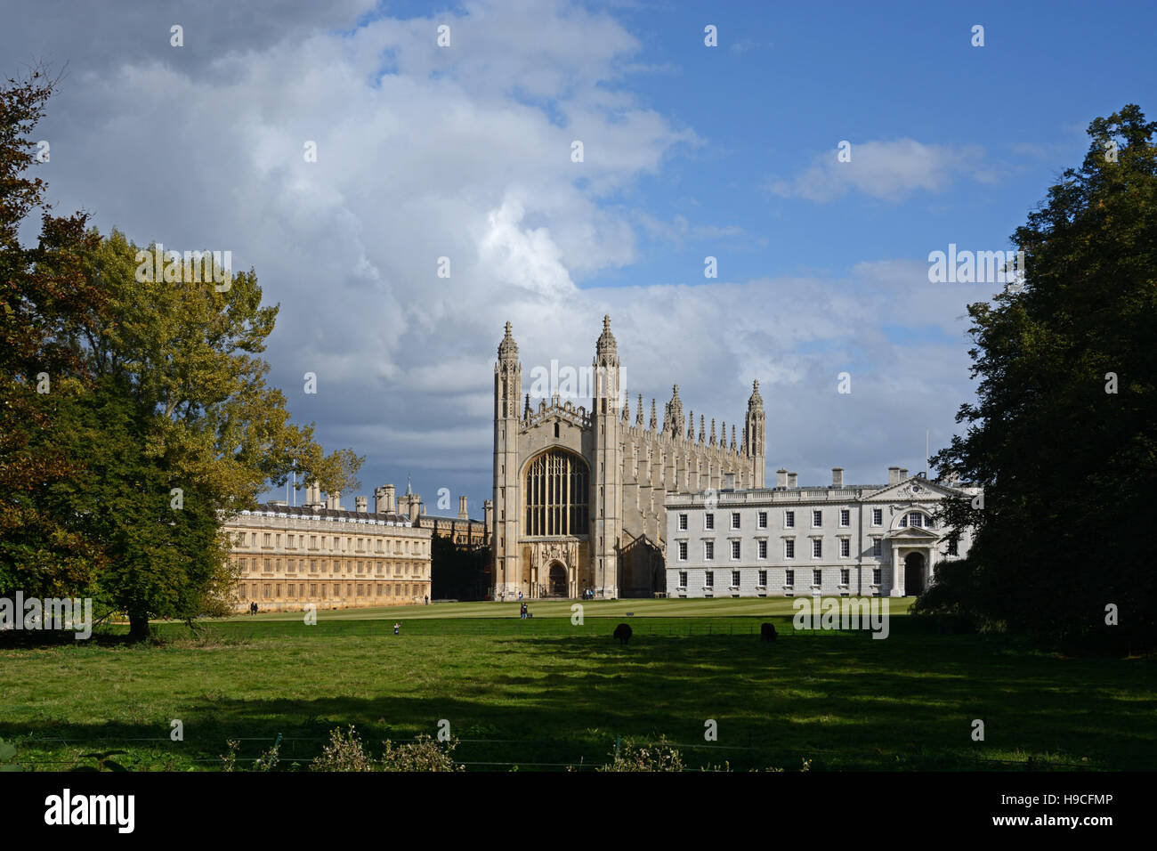 Lovely light on King's College, Cambridge, England. - Stock Image