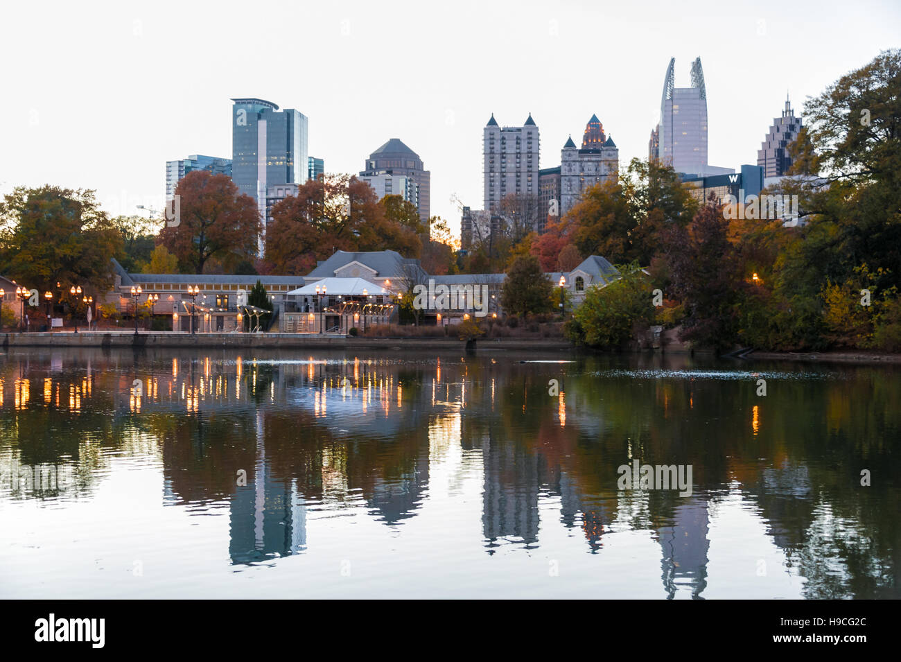 Midtown Atlanta, Georgia skyline from the city's beautiful Piedmont Park. (USA) Stock Photo