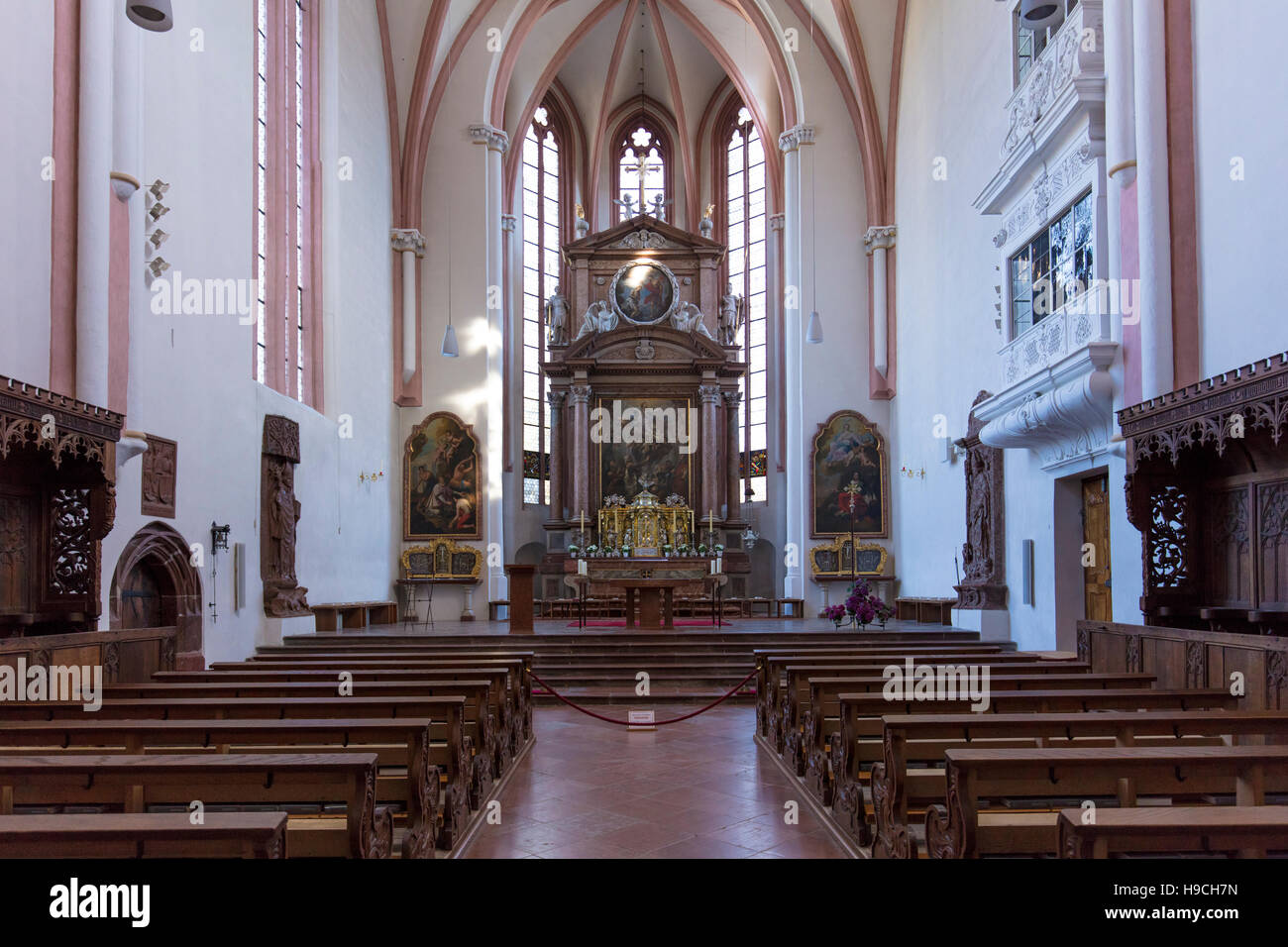 Collegiate Church of St. Peter and John the Baptist (12th c.), Berchtesgaden, Bavaria, Germany - Stock Image