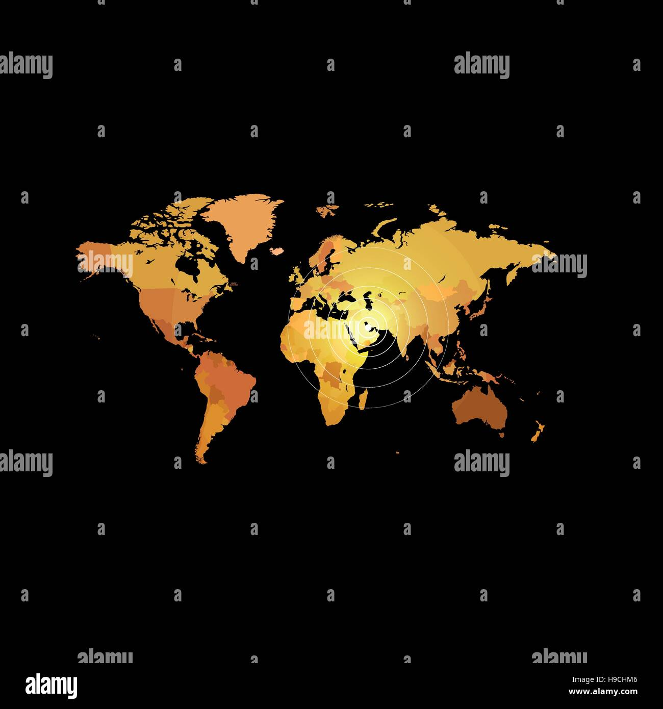 Orange color world map on black background globe design backdrop orange color world map on black background globe design backdrop cartography element wallpaper geographic locations image continents vector illustration gumiabroncs Images