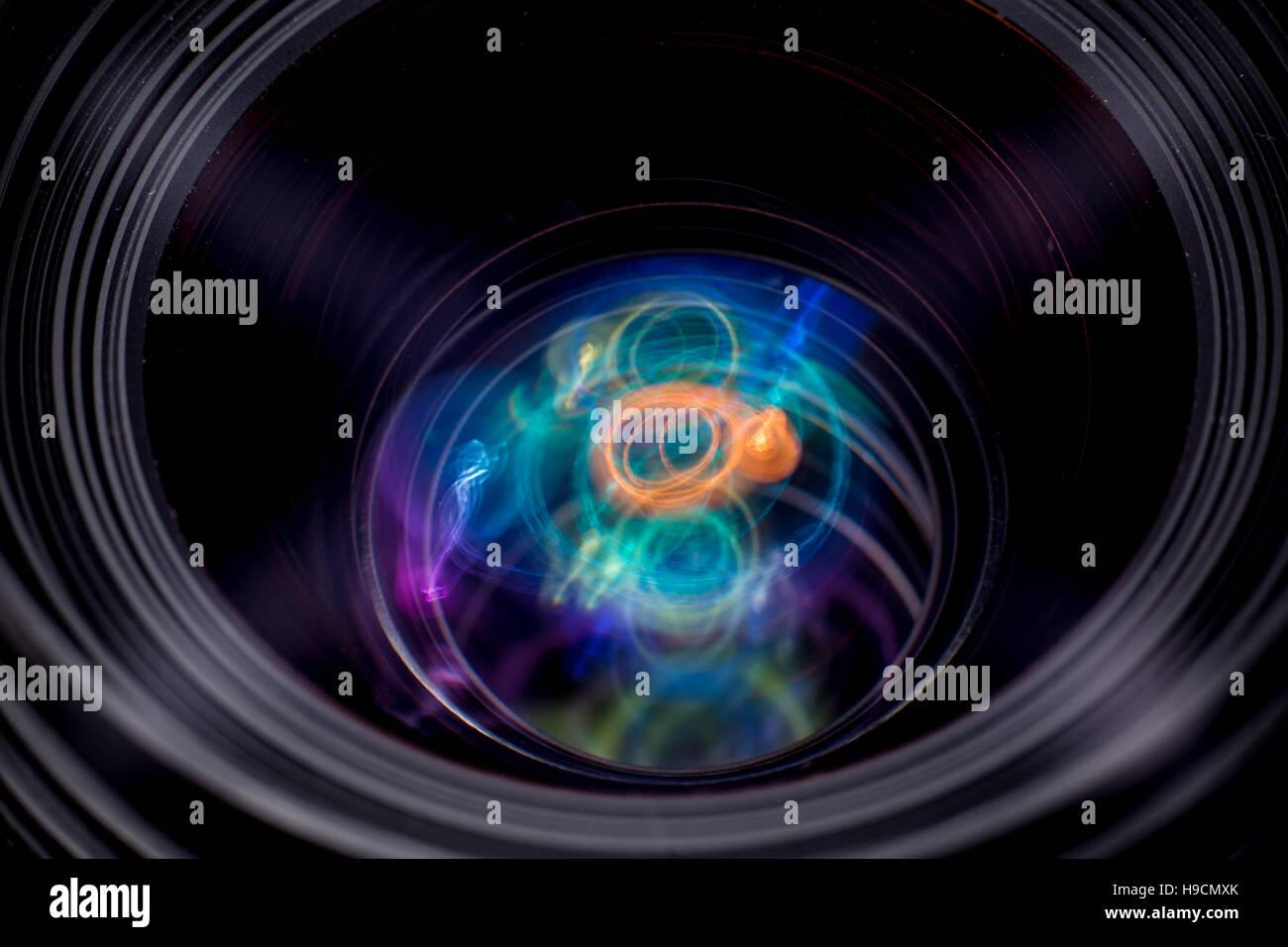 Plasma like reflections - Stock Image