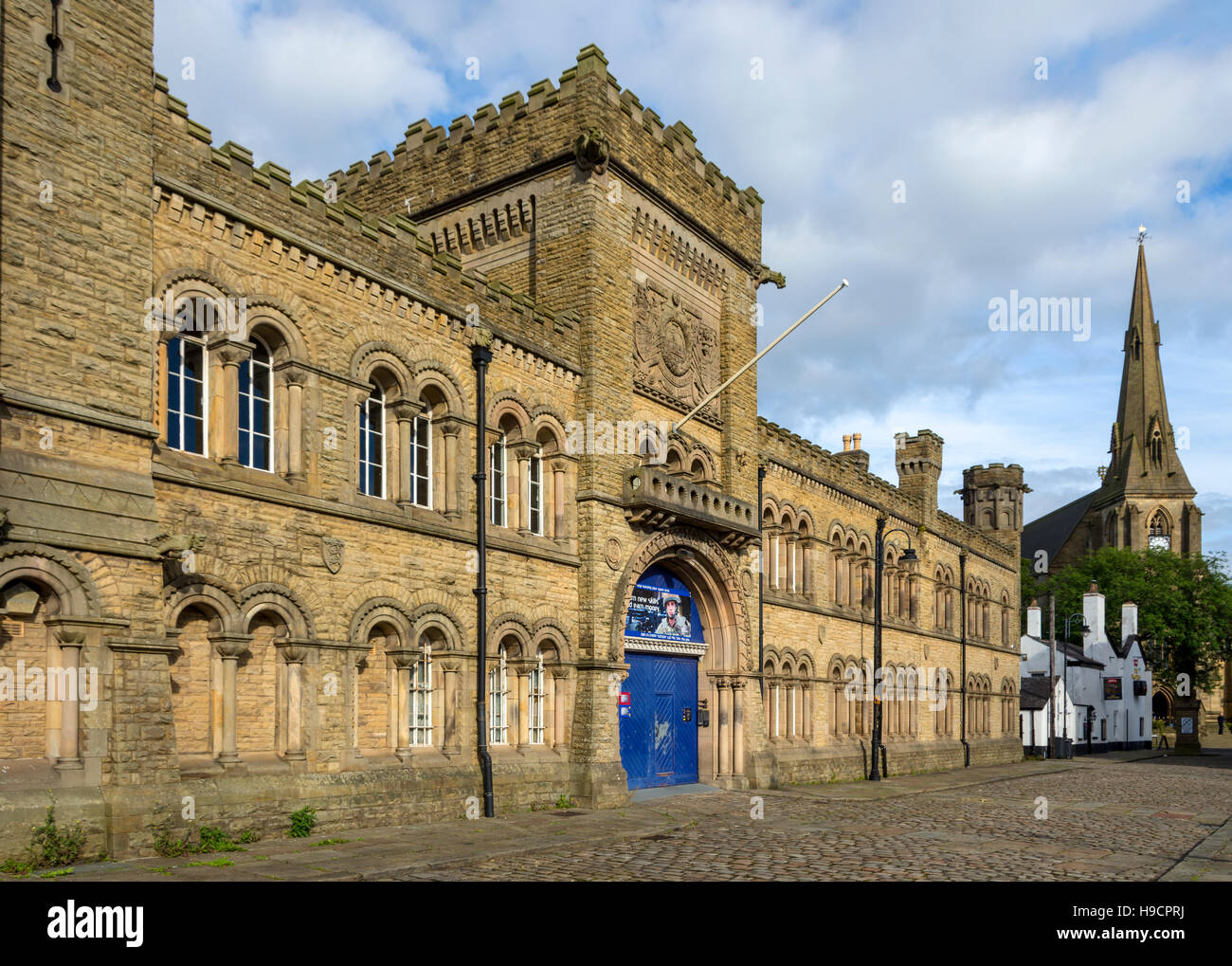 The Castle Armoury building (1868), Castle Street, Bury, Greater Manchester, England, UK - Stock Image