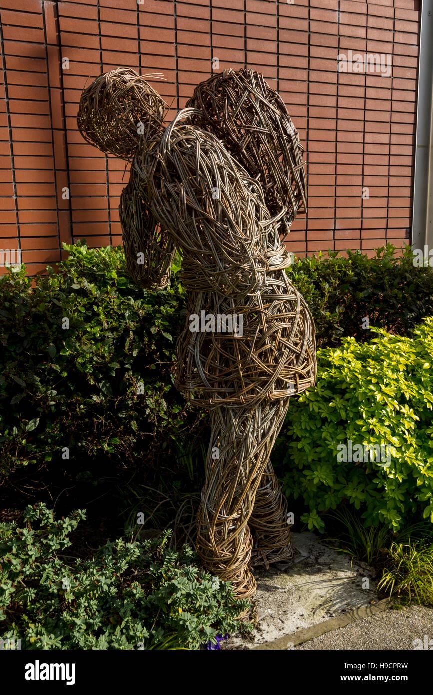 Willow Sculptures Stock Photos Willow Sculptures Stock: Bury Memorial Gardens Stock Photos & Bury Memorial Gardens