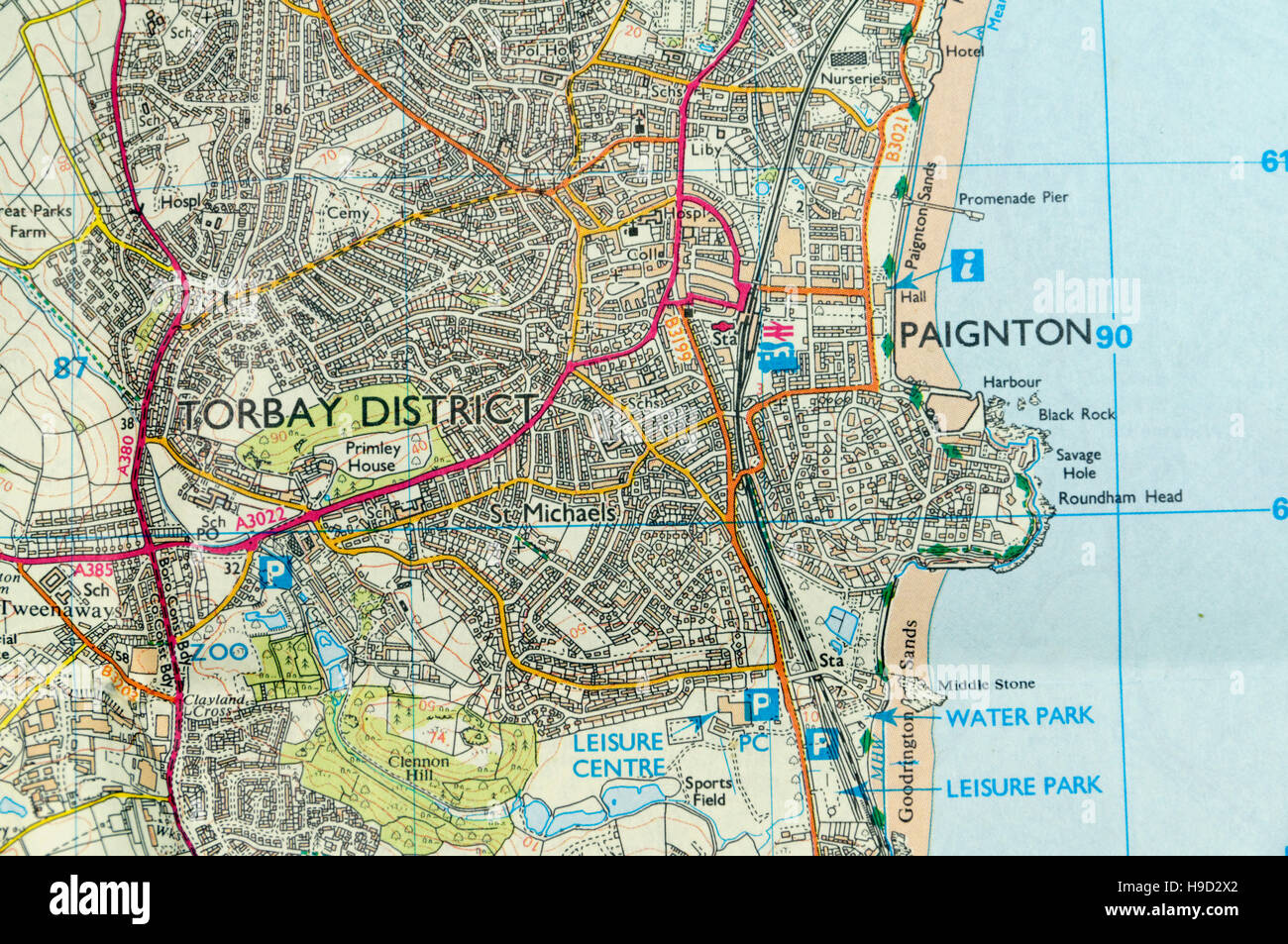 Map Of Paignton Ordnance Survey Map of Paignton, England Stock Photo: 126292154  Map Of Paignton