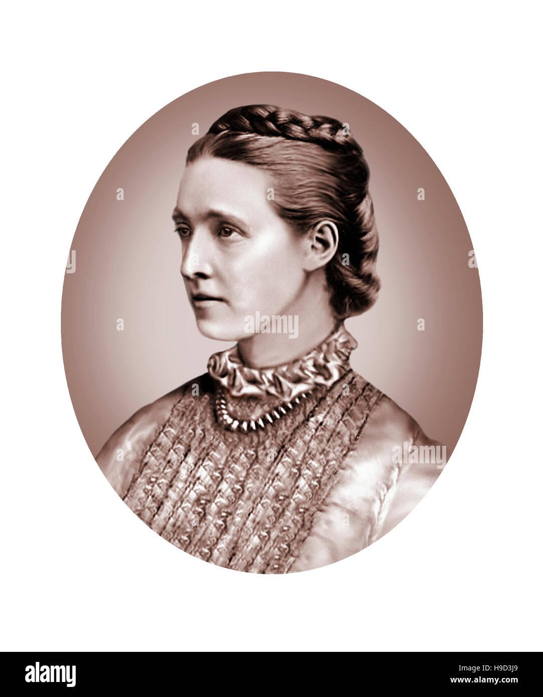 Millicent Garrett Fawcett, 1847-1929, Feminist, Political Writer - Stock Image