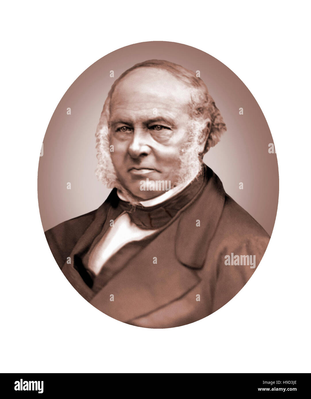 Sir Rowland Hill, 1795-1879, Government Postal Official, Inventor, Social Reformer - Stock Image