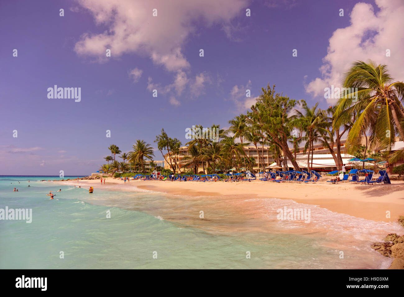 Turtle Beach Hotel, Dover Beach, St. Lawrence Gap, Barbados, Caribbean. - Stock Image