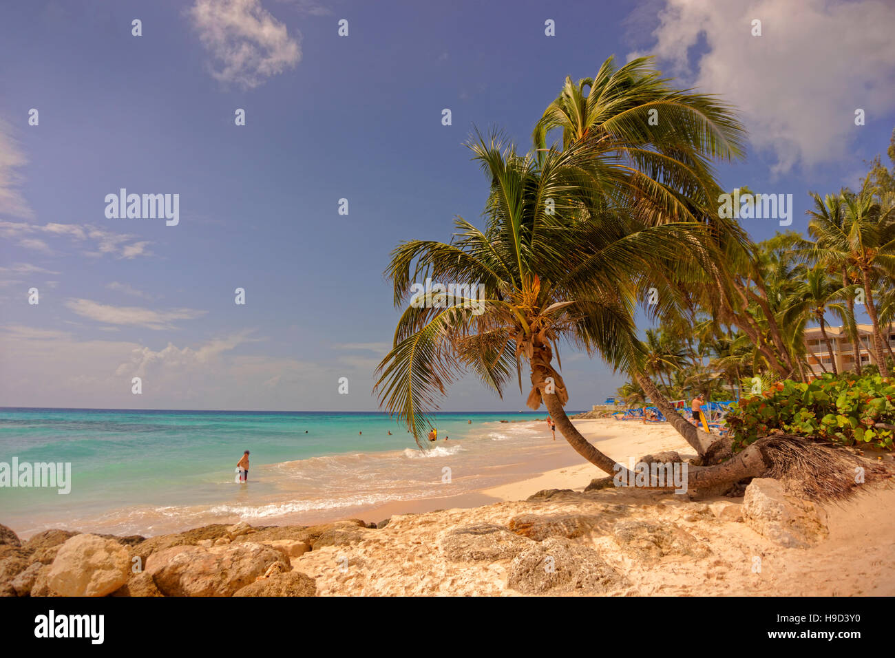 Dover Beach, St. Lawrence Gap, South coast, Barbados, Caribbean - Stock Image