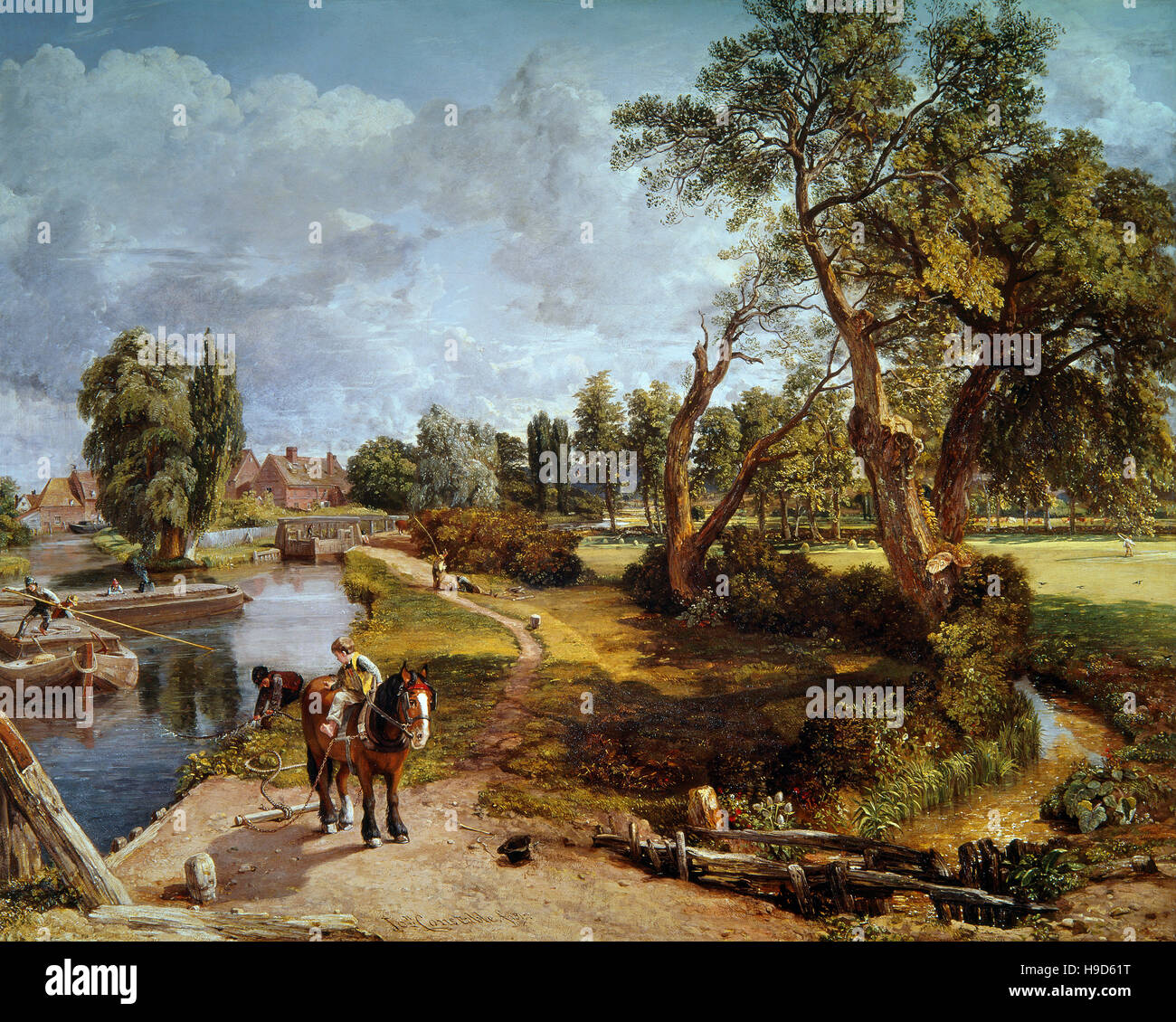 John Constable ( 1776 - 1837 )  Flatford Mill from a Lock on the Stour 1817 Stock Photo