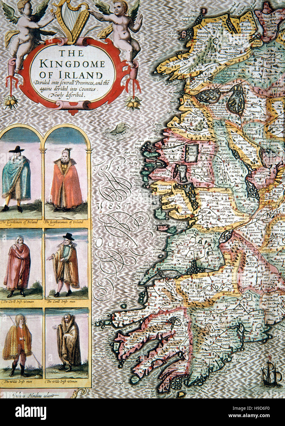 Jodocus Hondius ( 1563 - 1612 ) Map , the Kingdom of Ireland , 1616 on republic of china map, democratic republic of the congo map, southern ireland map, kingdom of ireland flag, union of soviet socialist republics map, isle of man map, duchy of milan map, republic of ireland map, provinces of ireland map, grand duchy of tuscany map, confederate states of america map,