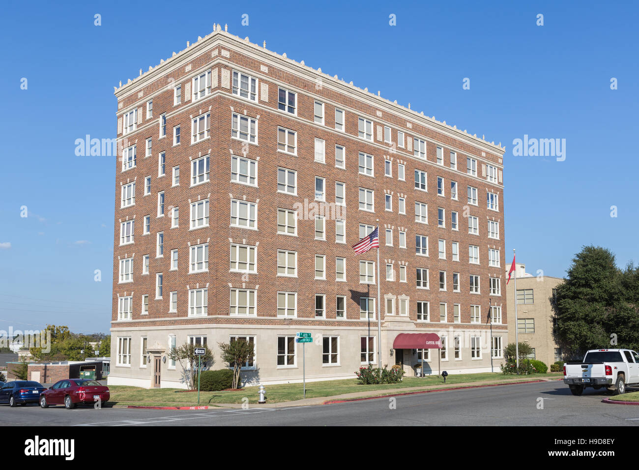 The Capitol Hill apartments in Little Rock, Arkansas Stock Photo