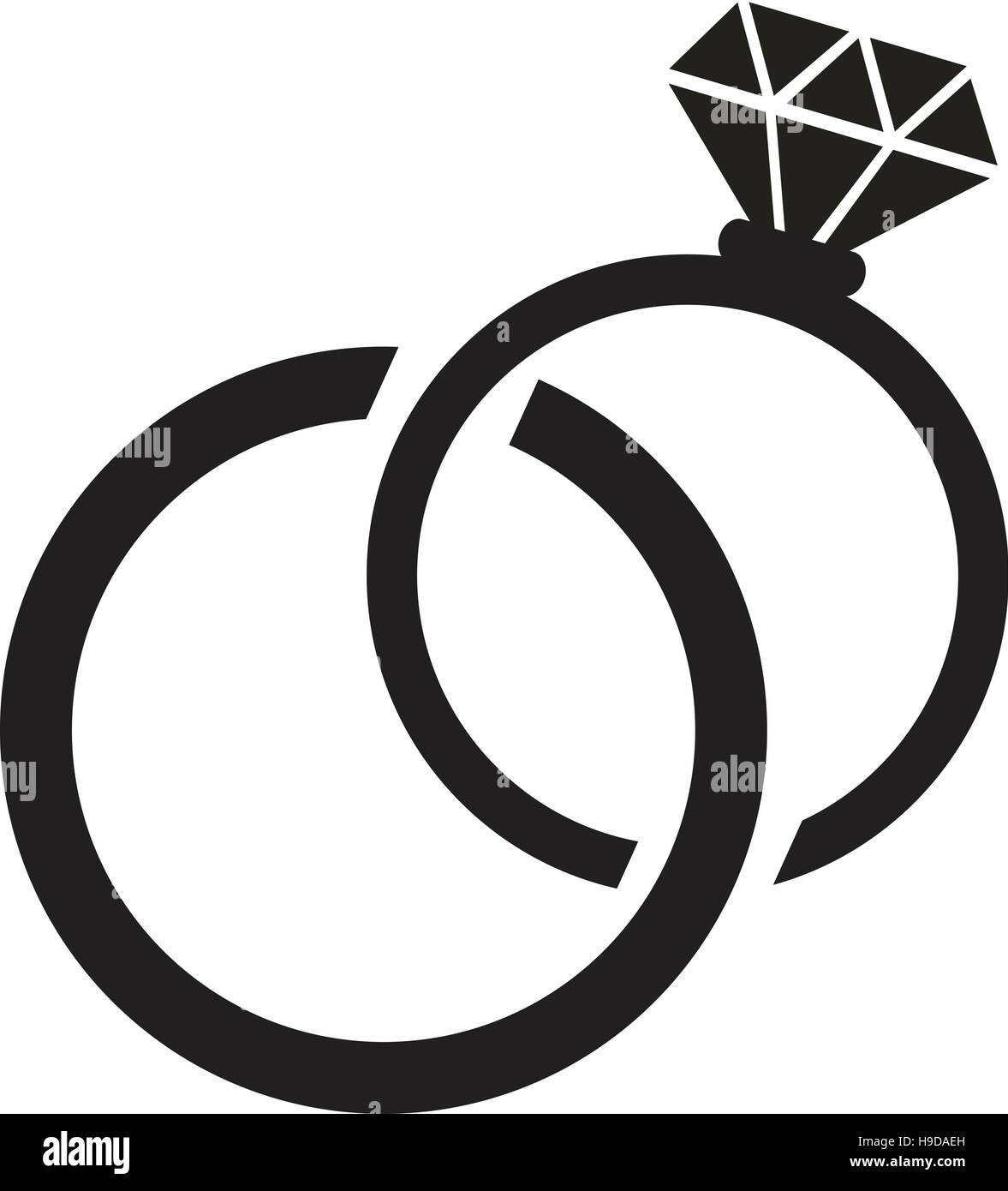 Wedding Rings Icon Stock Vector Art Illustration Vector Image