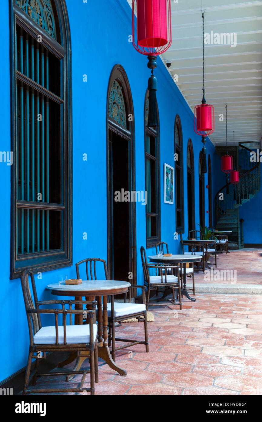 Cheong Fatt Tze Mansion on Leith Street in the historical centre of George Town, Penang, Malaysia. The house is - Stock Image