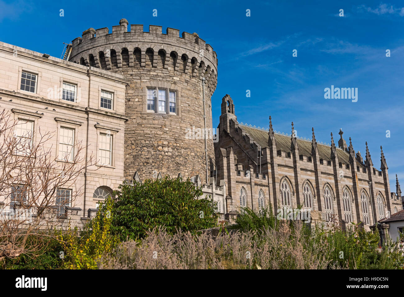 Dublin Castle Record Tower Dublin Ireland - Stock Image