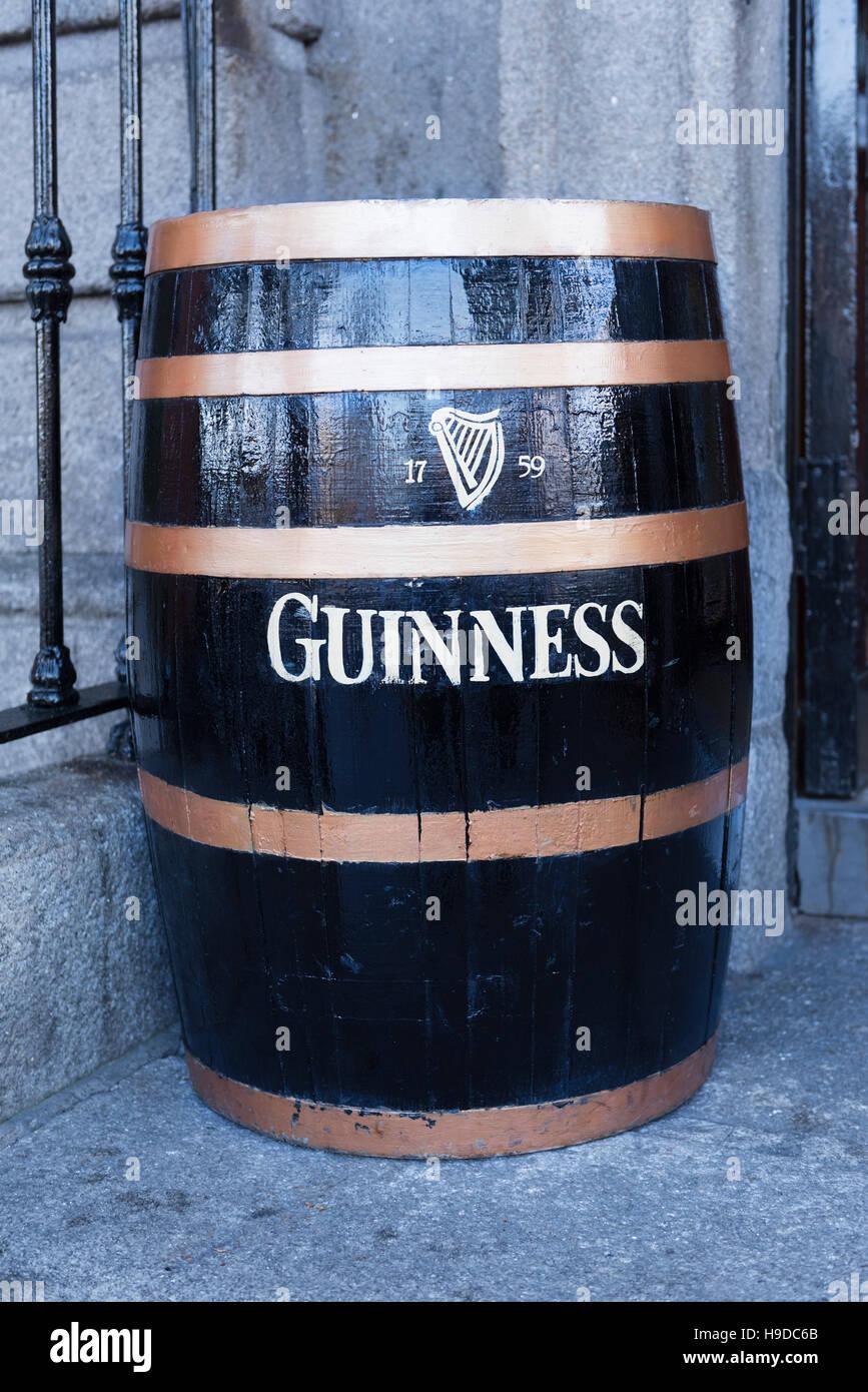 Guinness barrel Dublin Ireland - Stock Image