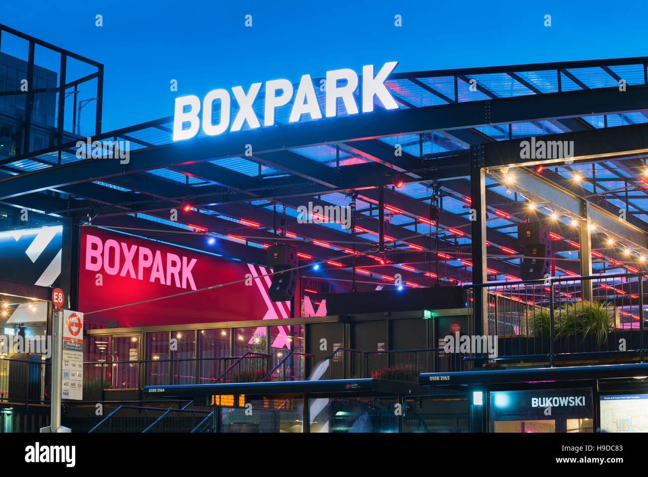 Croydon Boxpark South London UK - Stock Image