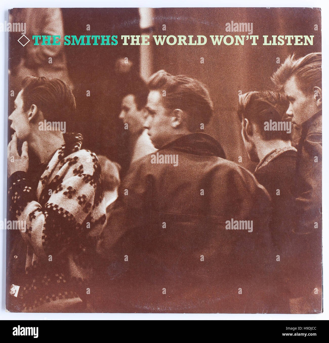 Cover of The Smiths 'The World Won't Listen 1987 compilation album on Rough Trade - Stock Image
