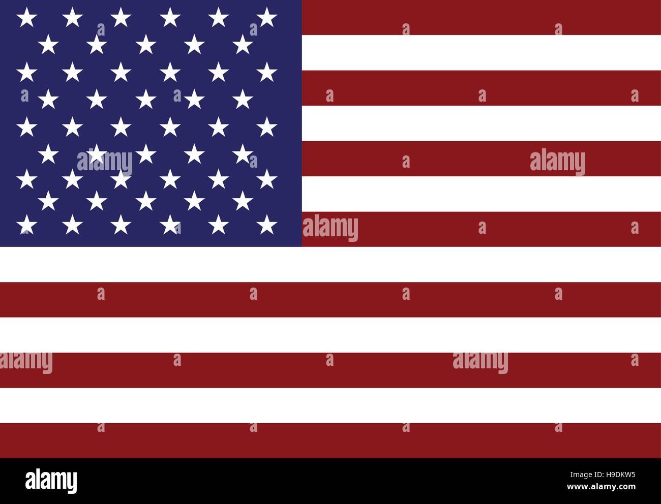 American flag icon - Stock Image