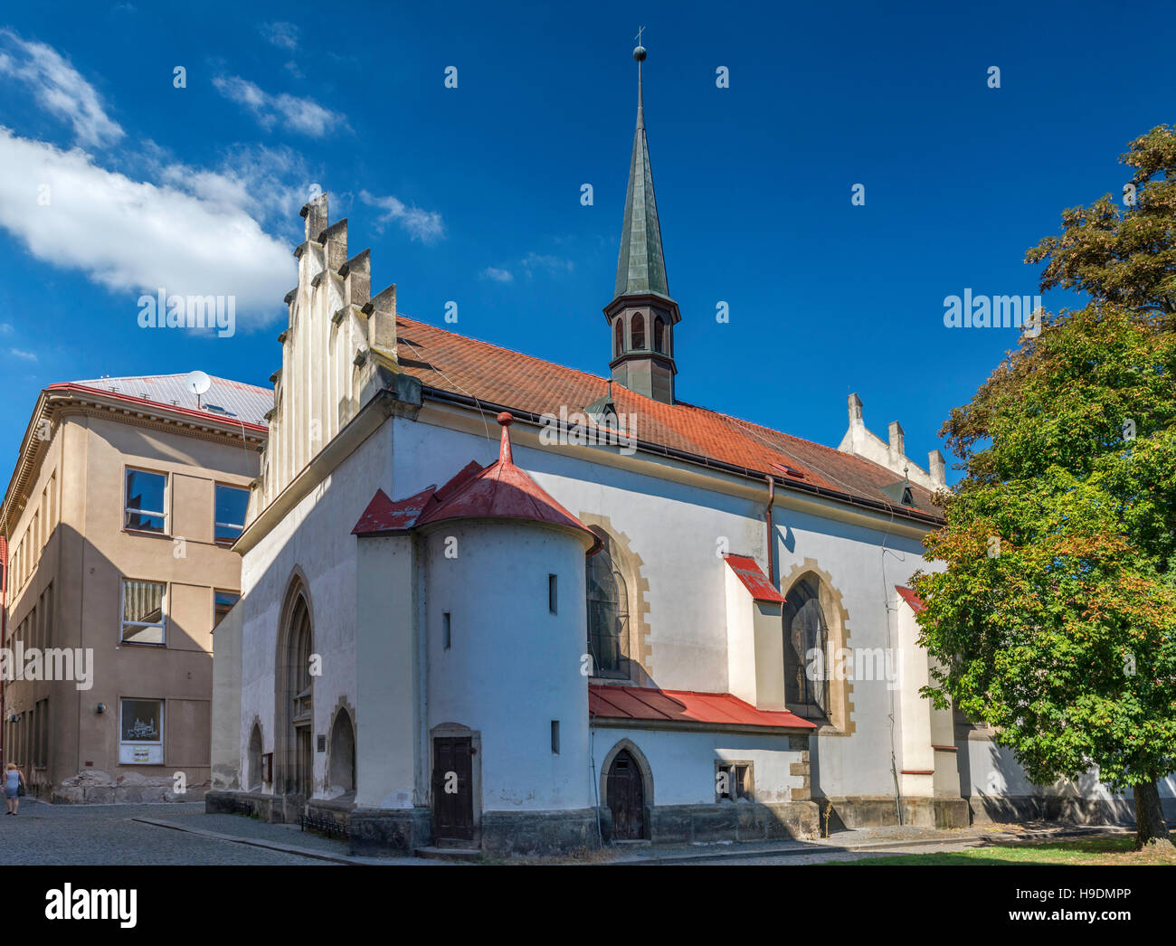 Annunciation Church in Pardubice, Bohemia, Czech Republic - Stock Image
